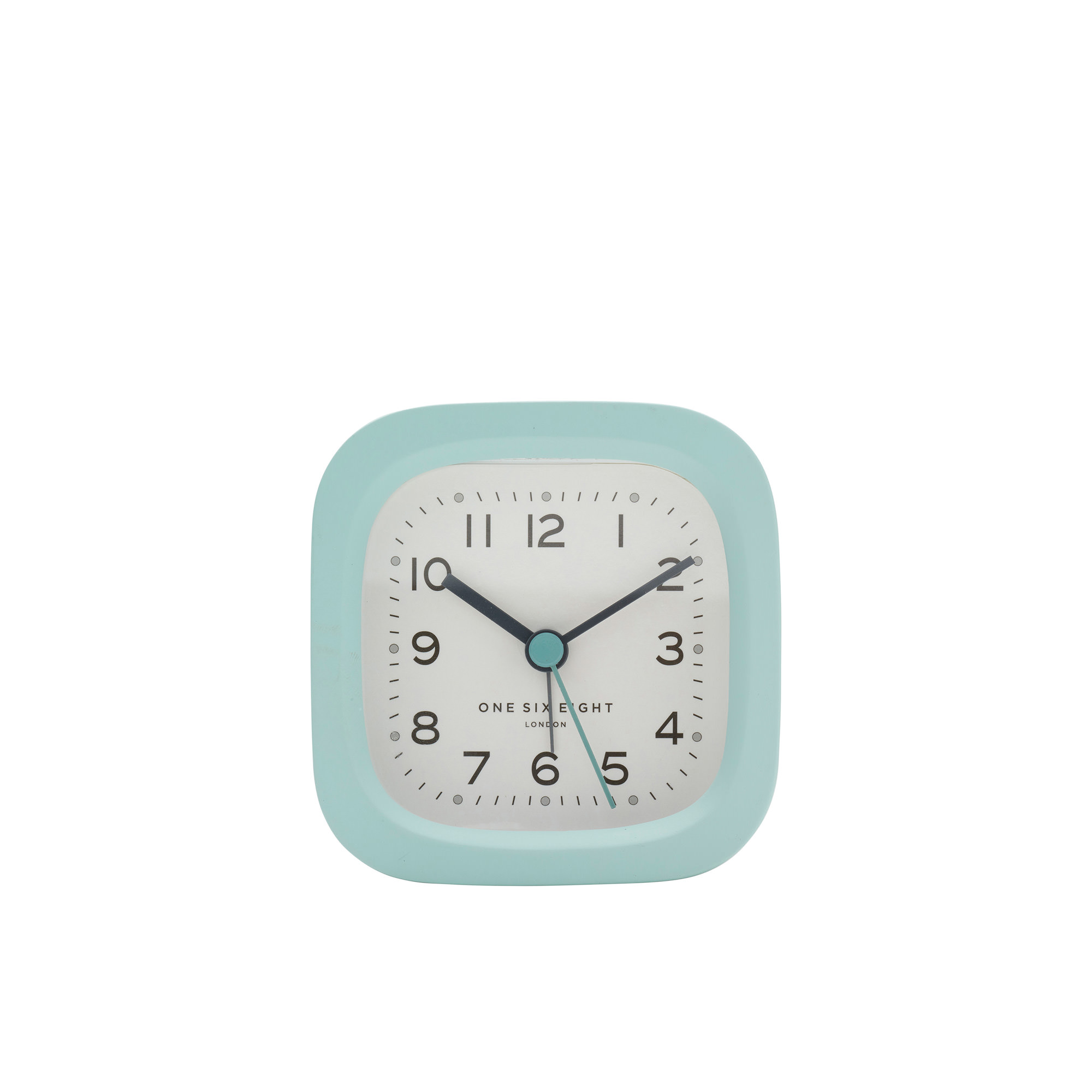 One Six Eight London Harry Silent Alarm Clock 8cm Duck Egg Blue