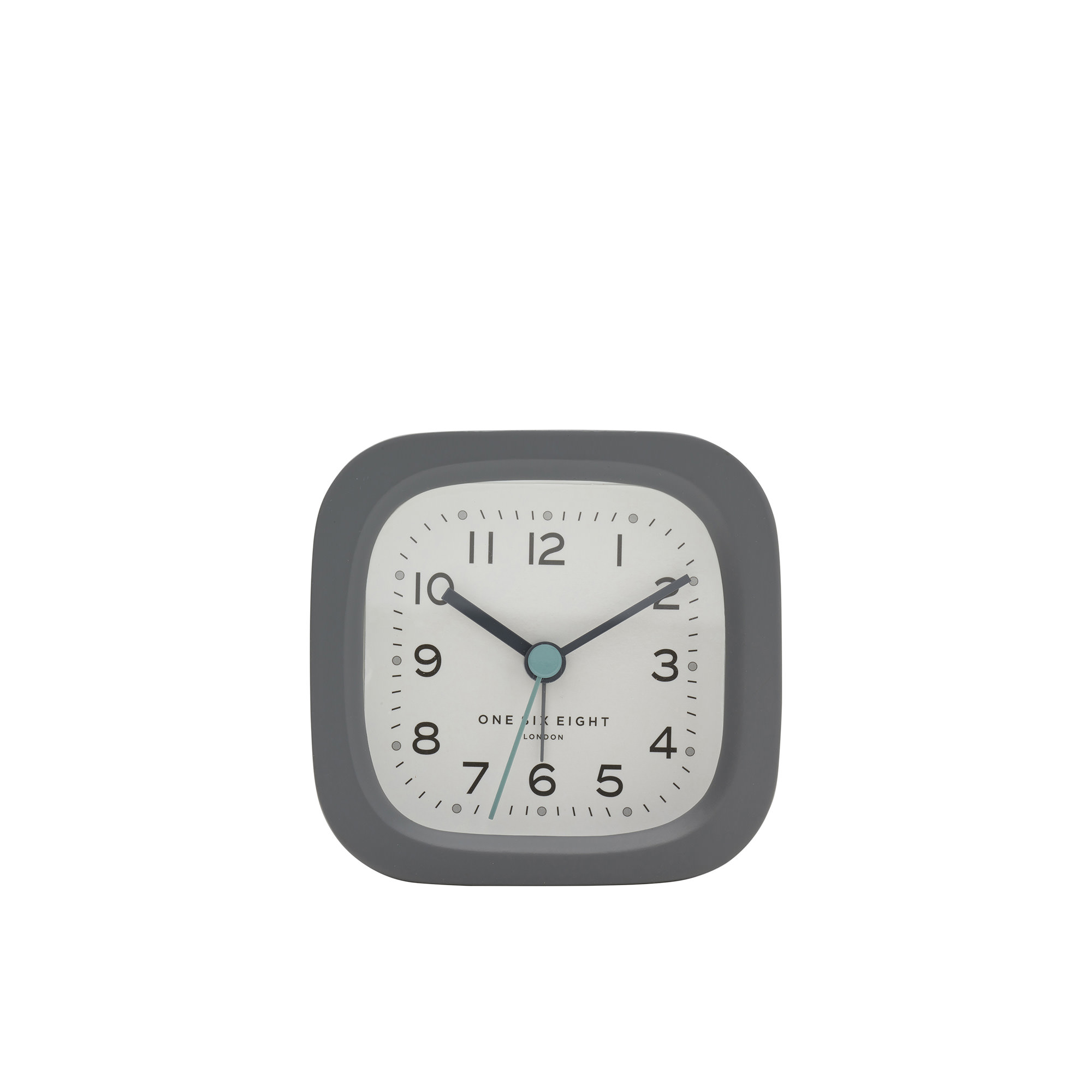 One Six Eight London Harry Silent Alarm Clock 8cm Grey