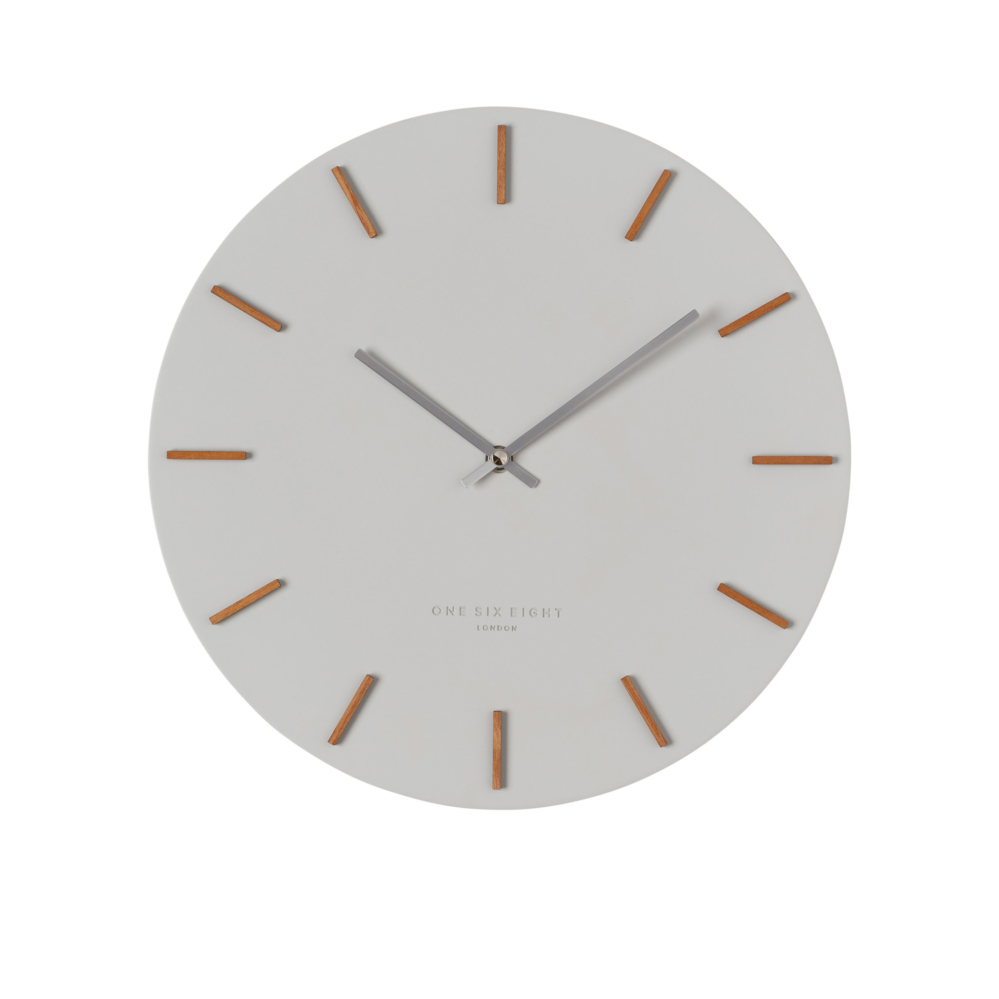 One Six Eight London Ivy Cool Silent Wall Clock 35cm Cool Grey