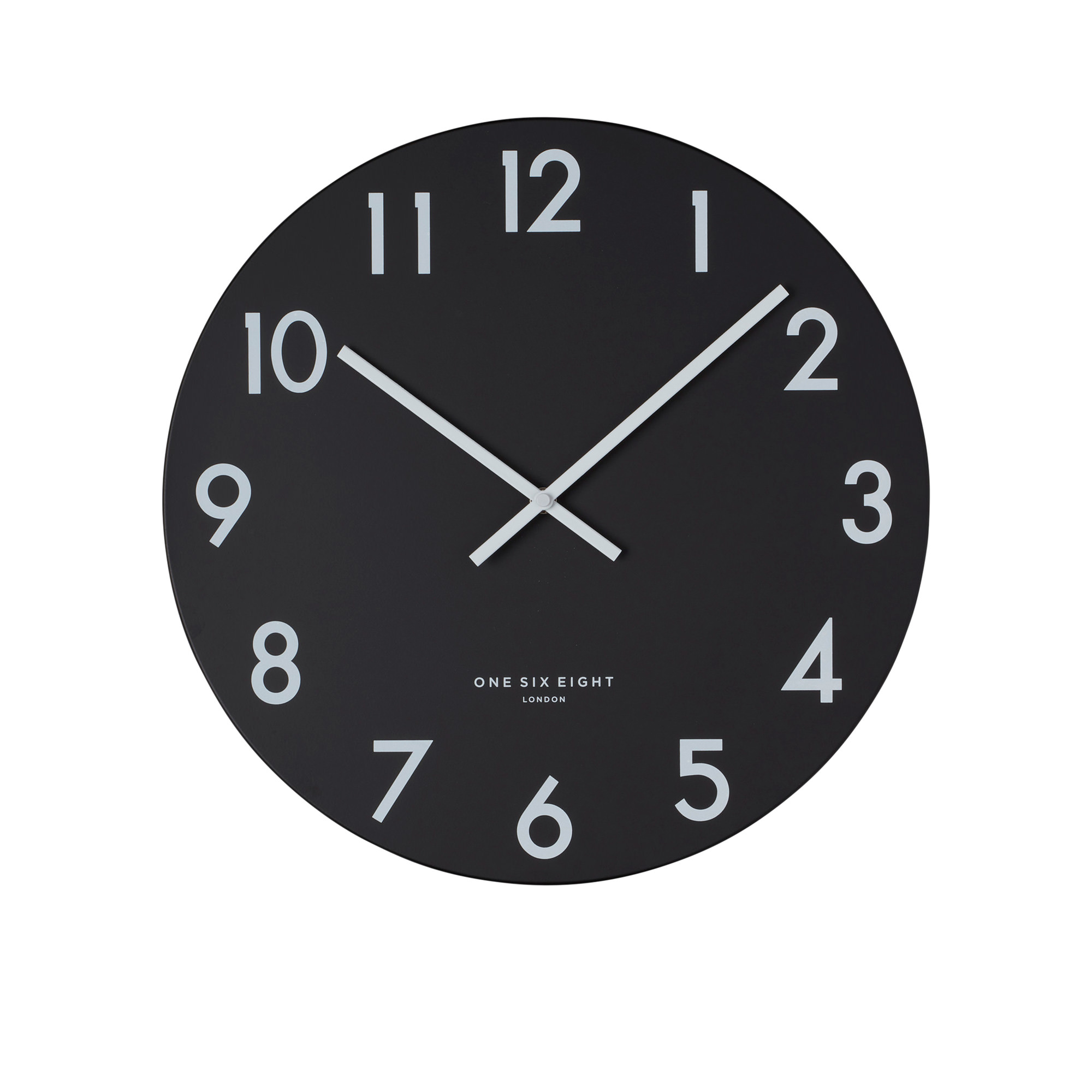 One Six Eight London Jackson Silent Wall Clock 40cm Black