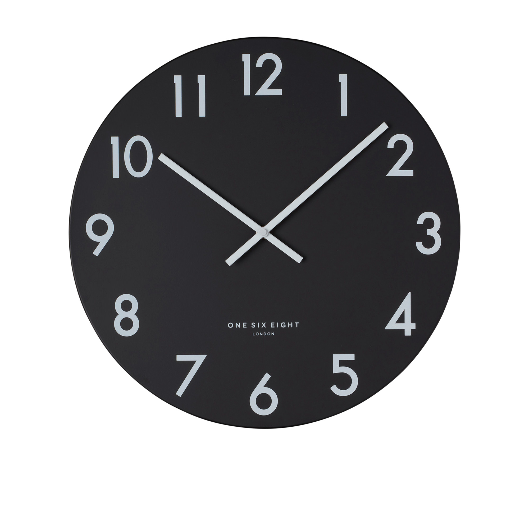 One Six Eight London Jackson Silent Wall Clock 60cm Black