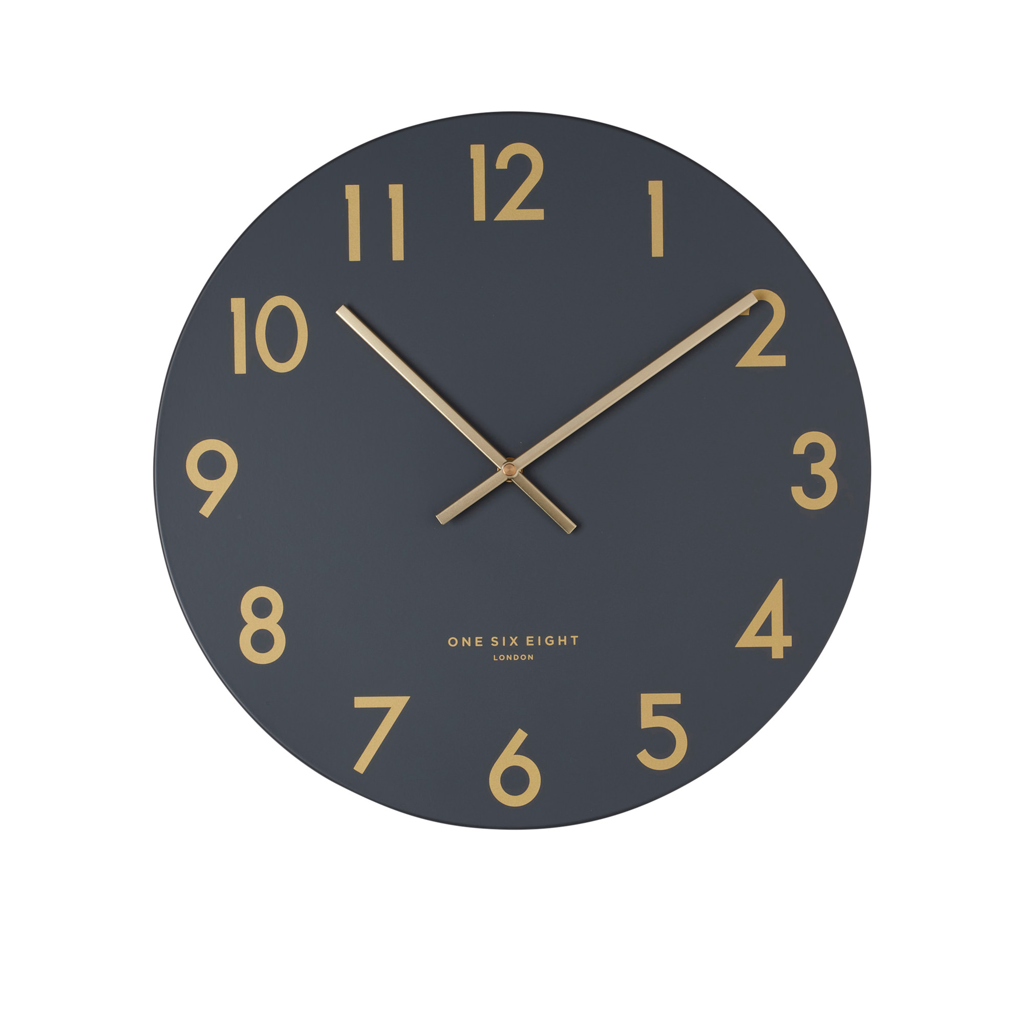 One Six Eight London Jones Silent Wall Clock 30cm Charcoal Grey