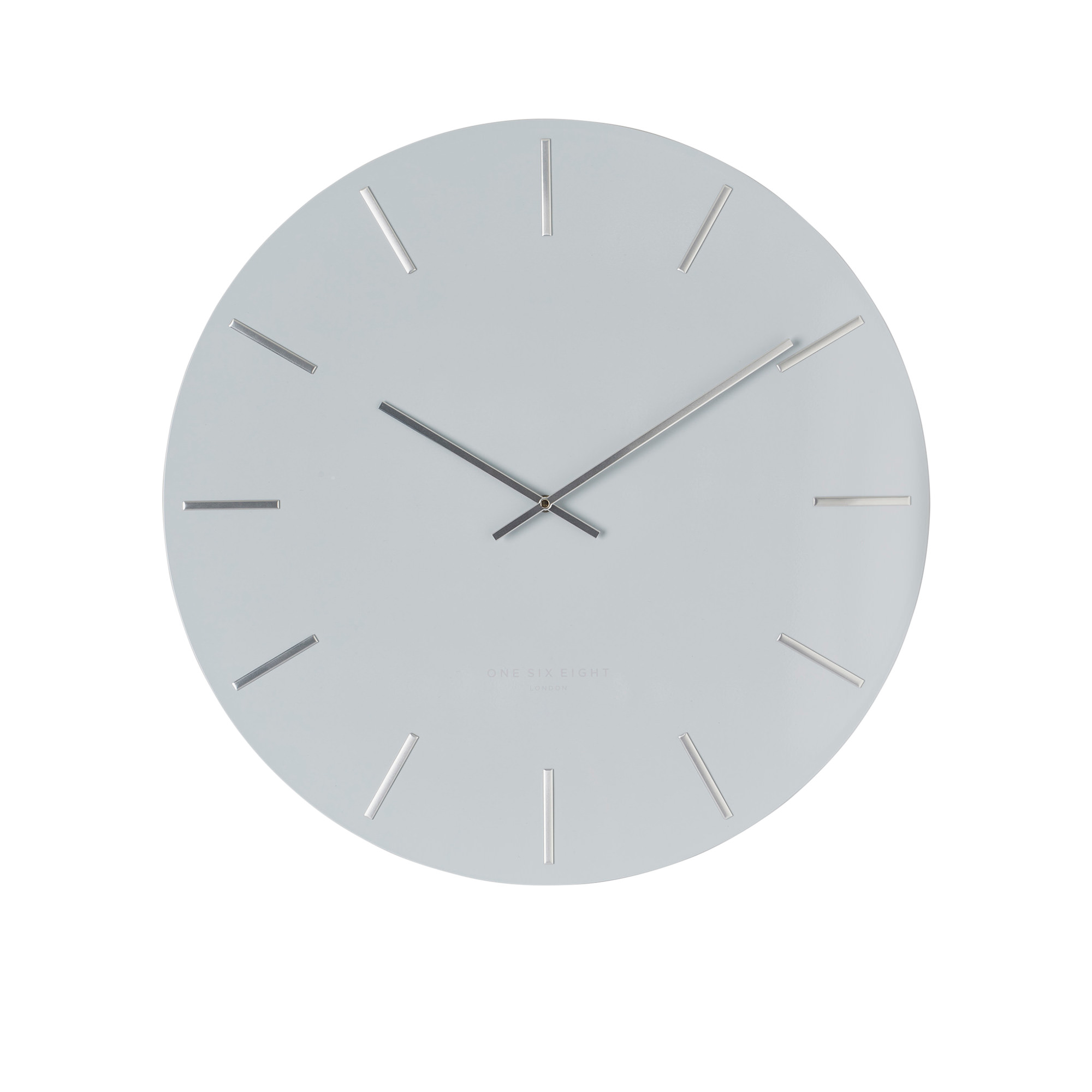One Six Eight London Luca Silent Wall Clock 30cm Light Grey