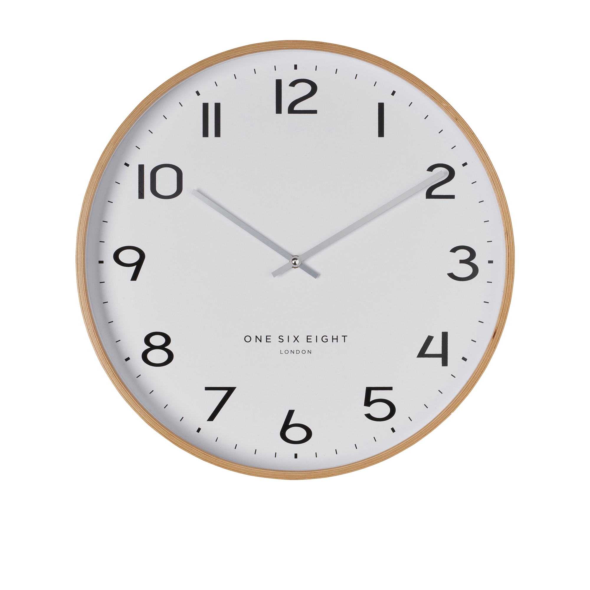 One Six Eight London Olivia Silent Wall Clock 53cm White