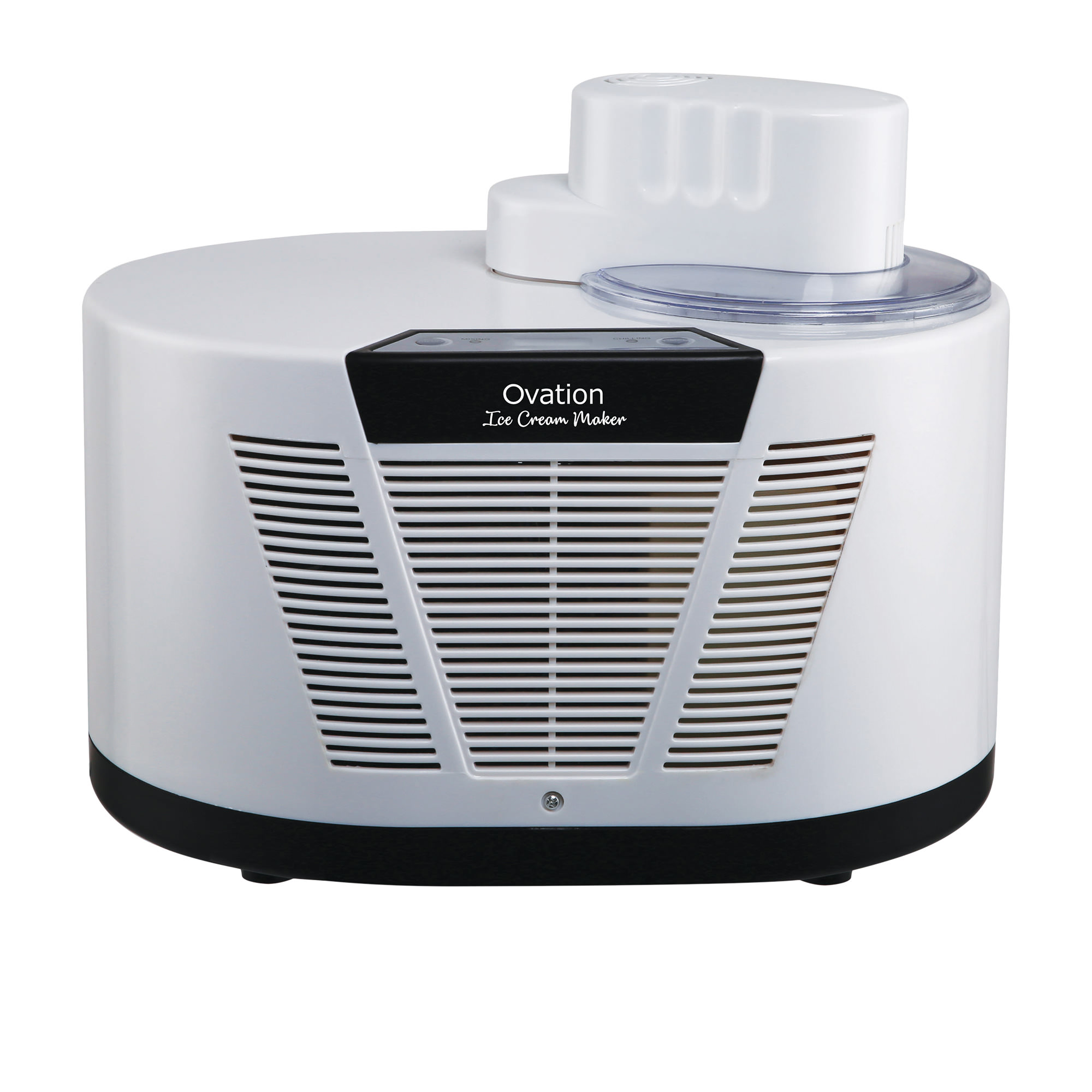 Ovation Compressor Ice Cream Maker 1L White