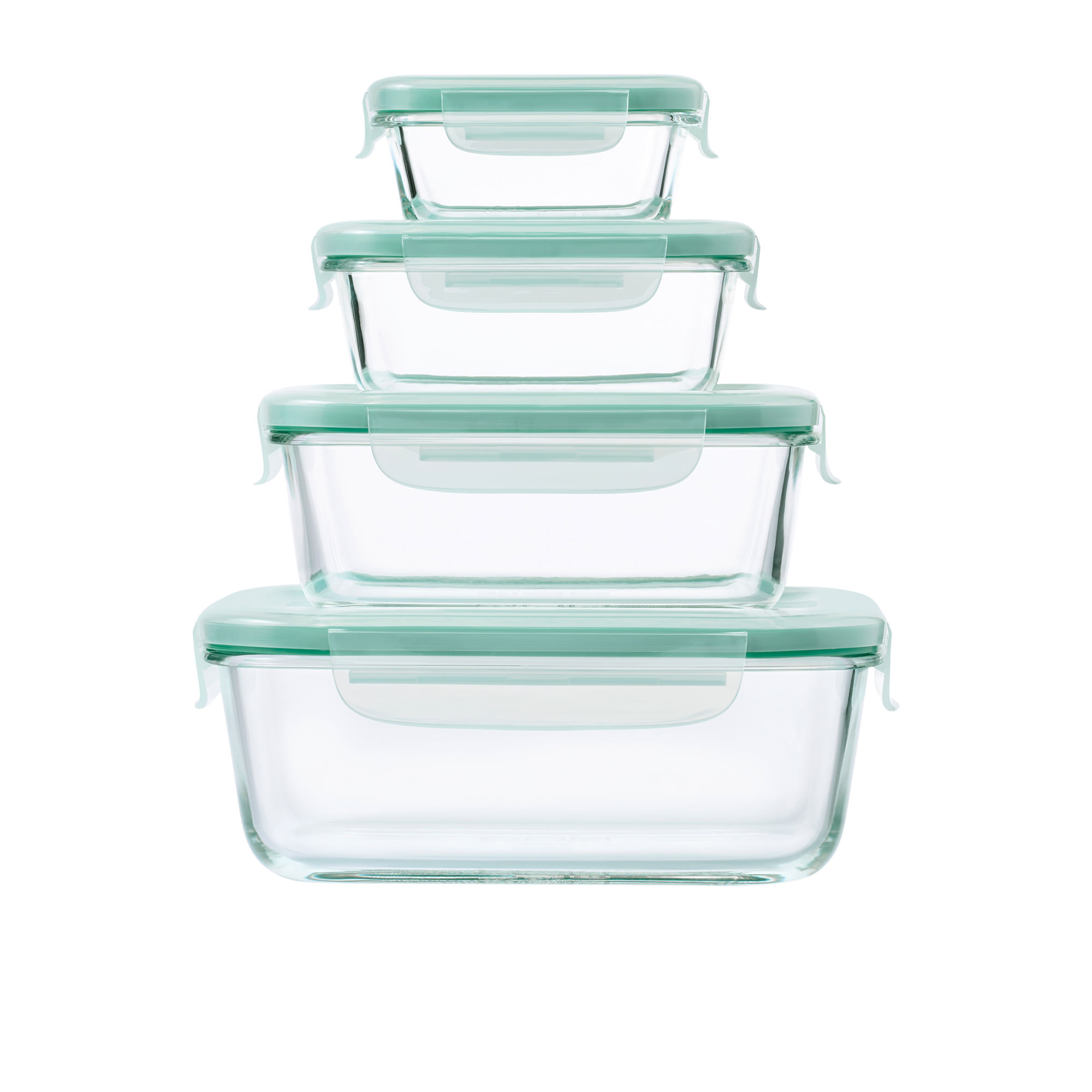 Oxo Good Grips 4pc Smart Seal Rectangular Glass Container Set