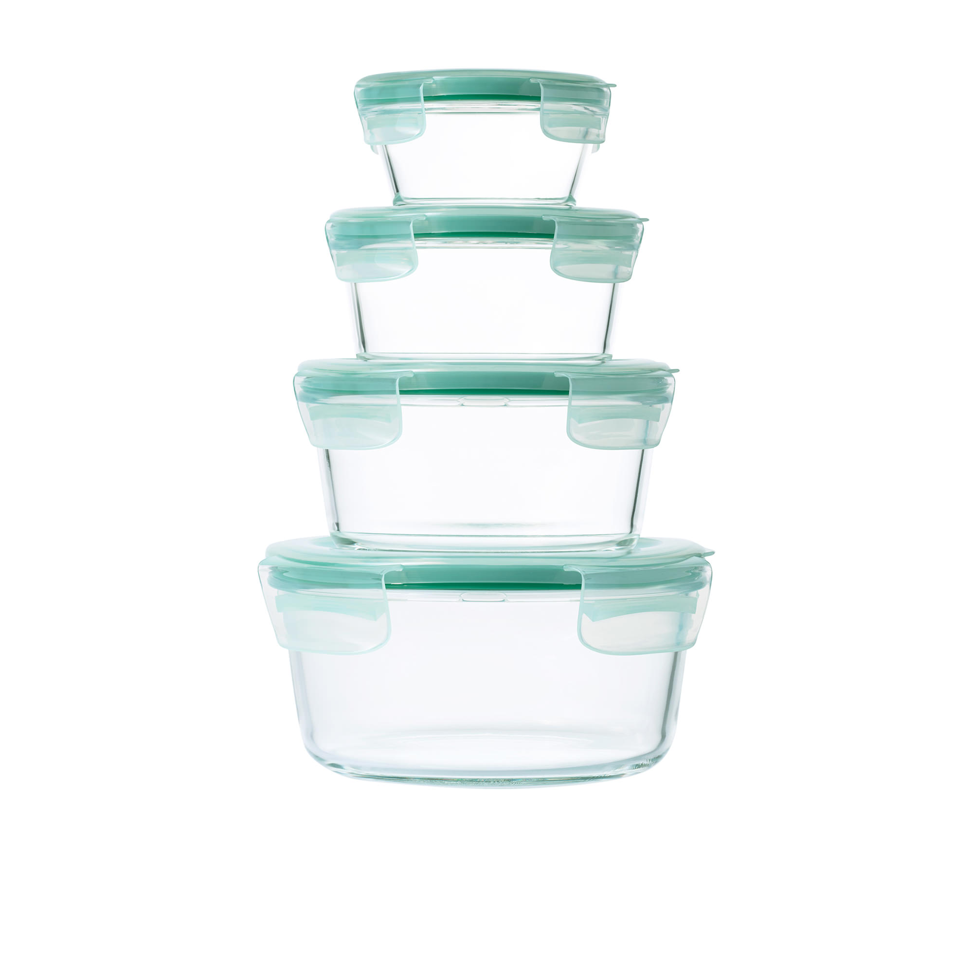 Oxo Good Grips 4pc Smart Seal Round Glass Container Set