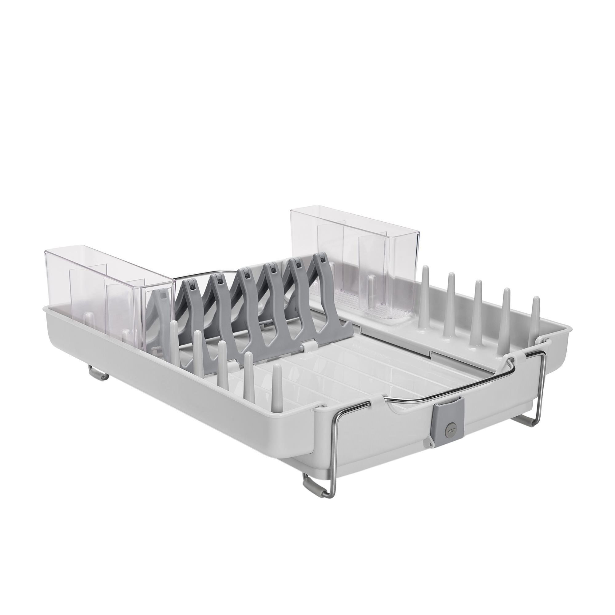 Oxo Good Grips Foldaway Dish Rack 48.3x39.4x16.5cm White