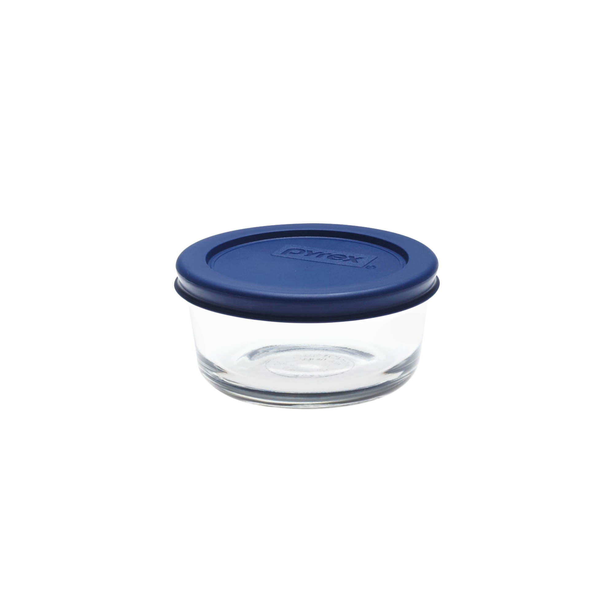 Pyrex Round Glass Storage 250ml Blue