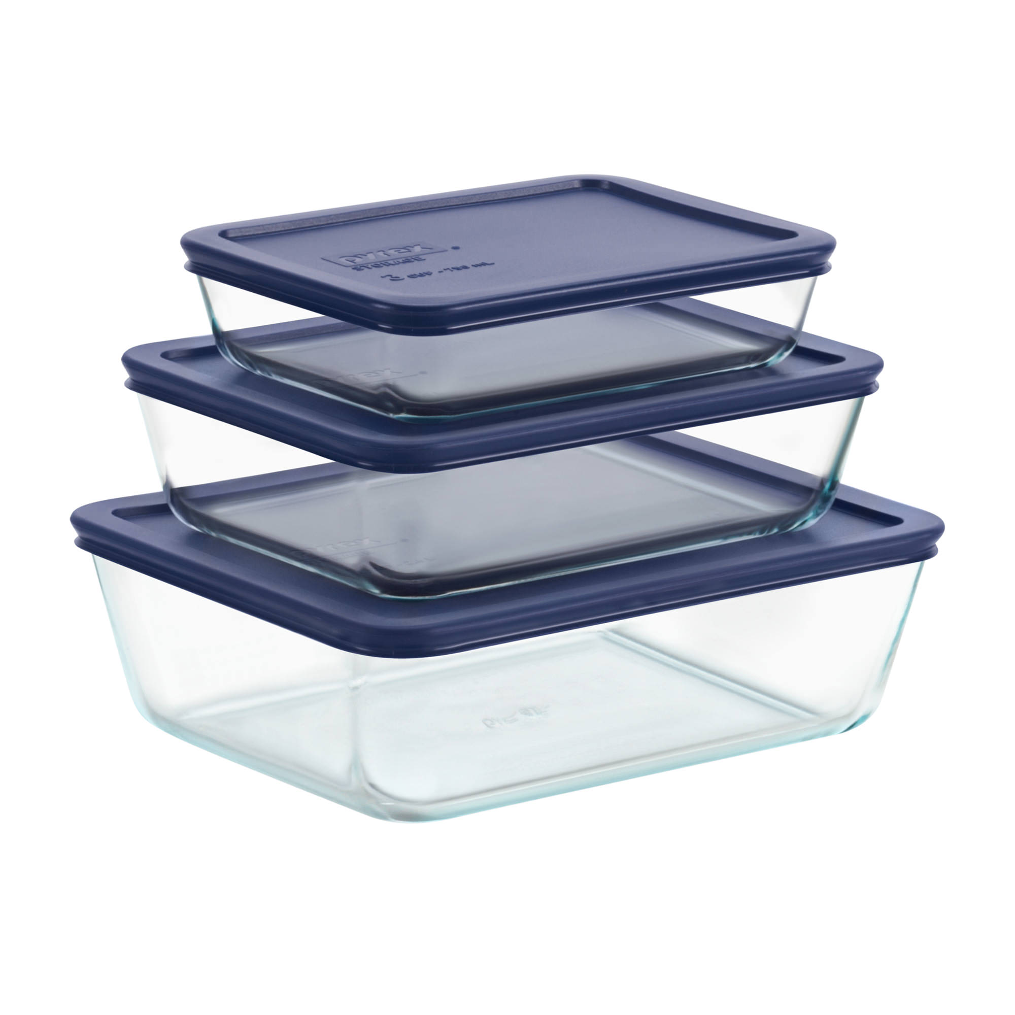 Pyrex Simply Store 6pc Rectangular Food Container Set w/ Lid