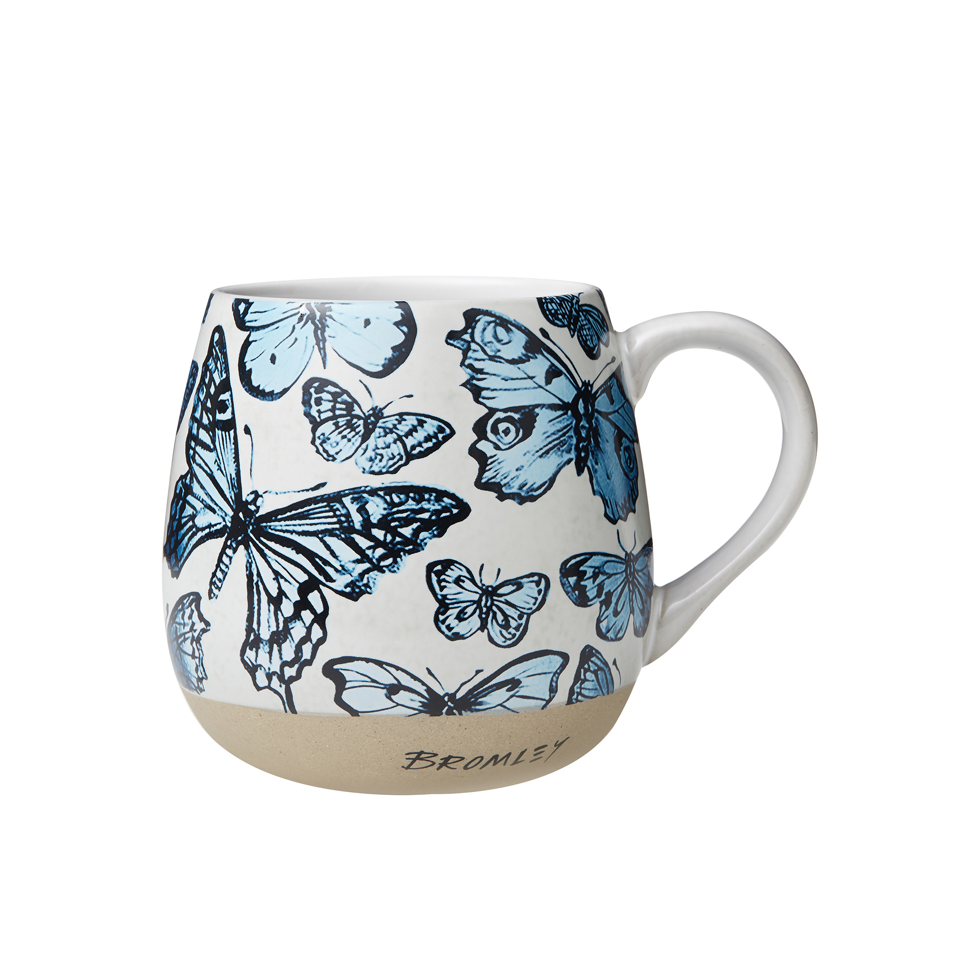 Robert Gordon Bromley X Hug Me Mug 550ml Blue Butterflies