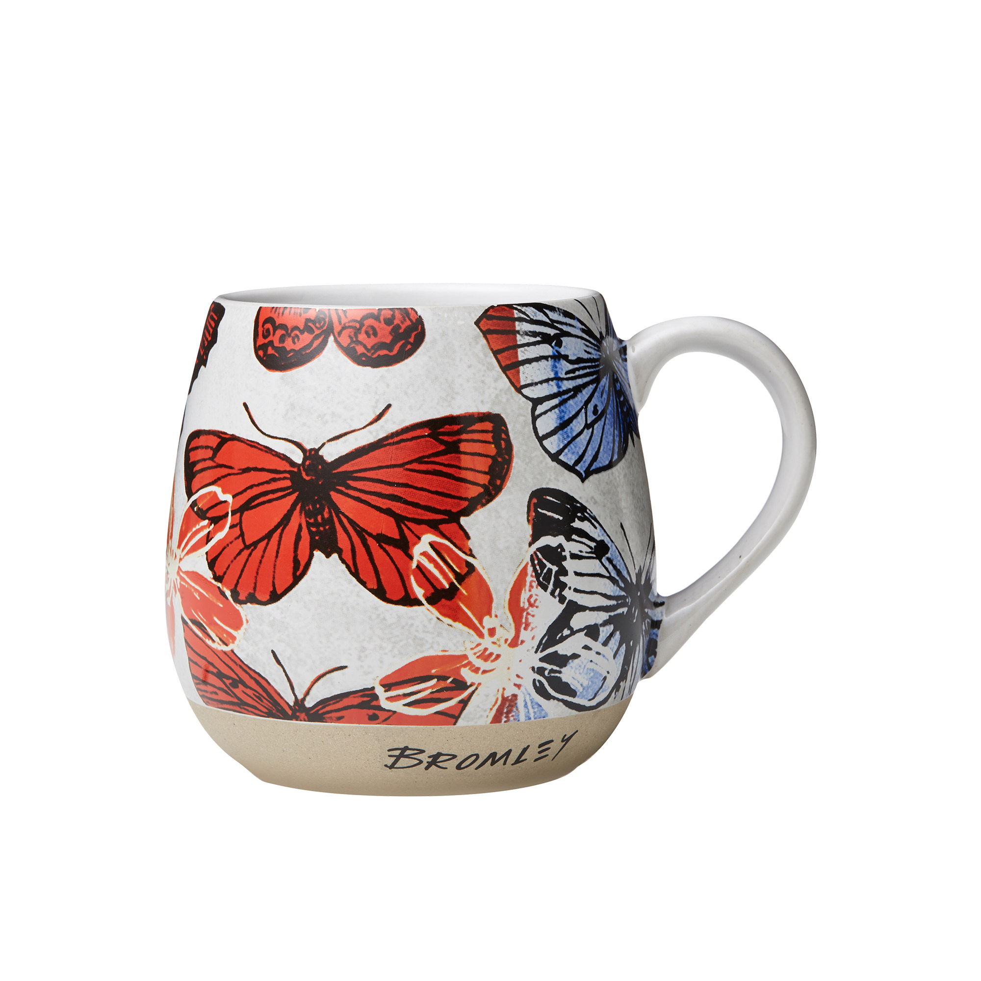 Robert Gordon Bromley X Hug Me Mug 550ml Red Butterflies