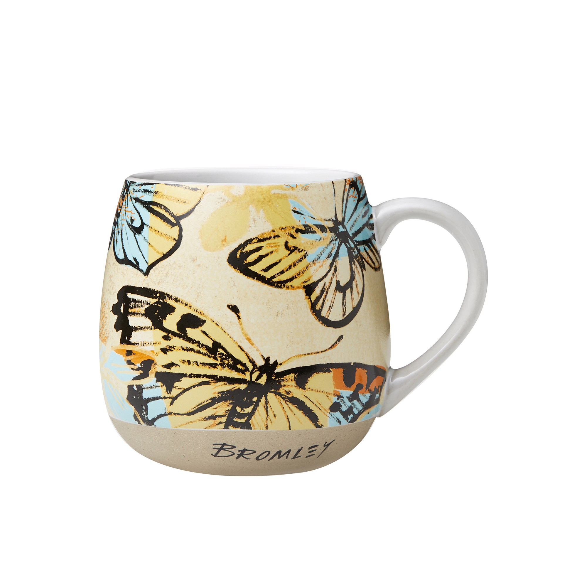 Robert Gordon Bromley X Hug Me Mug 550ml Yellow Butterflies