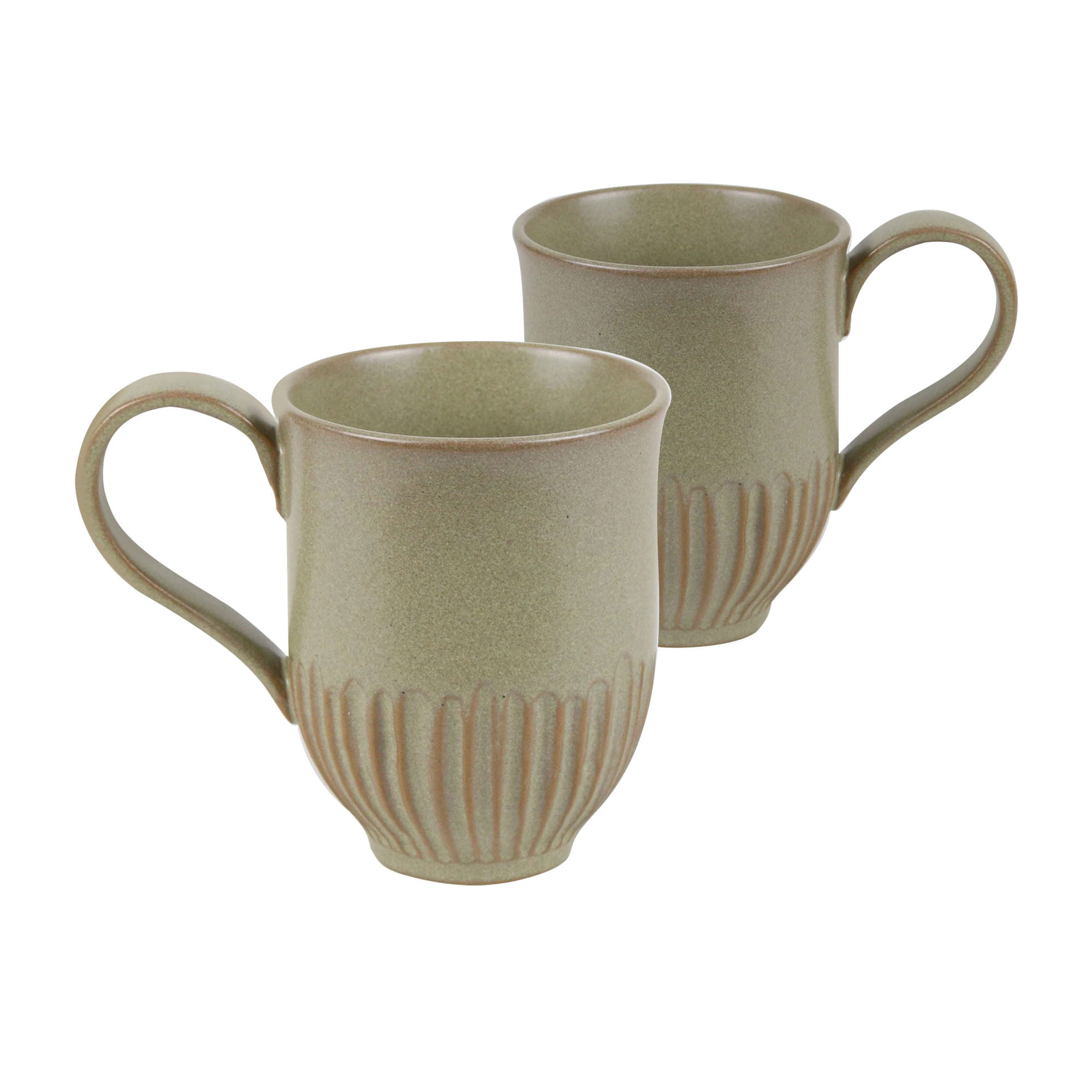 Robert Gordon Crafted 2pc Mug Set 400ml Olive