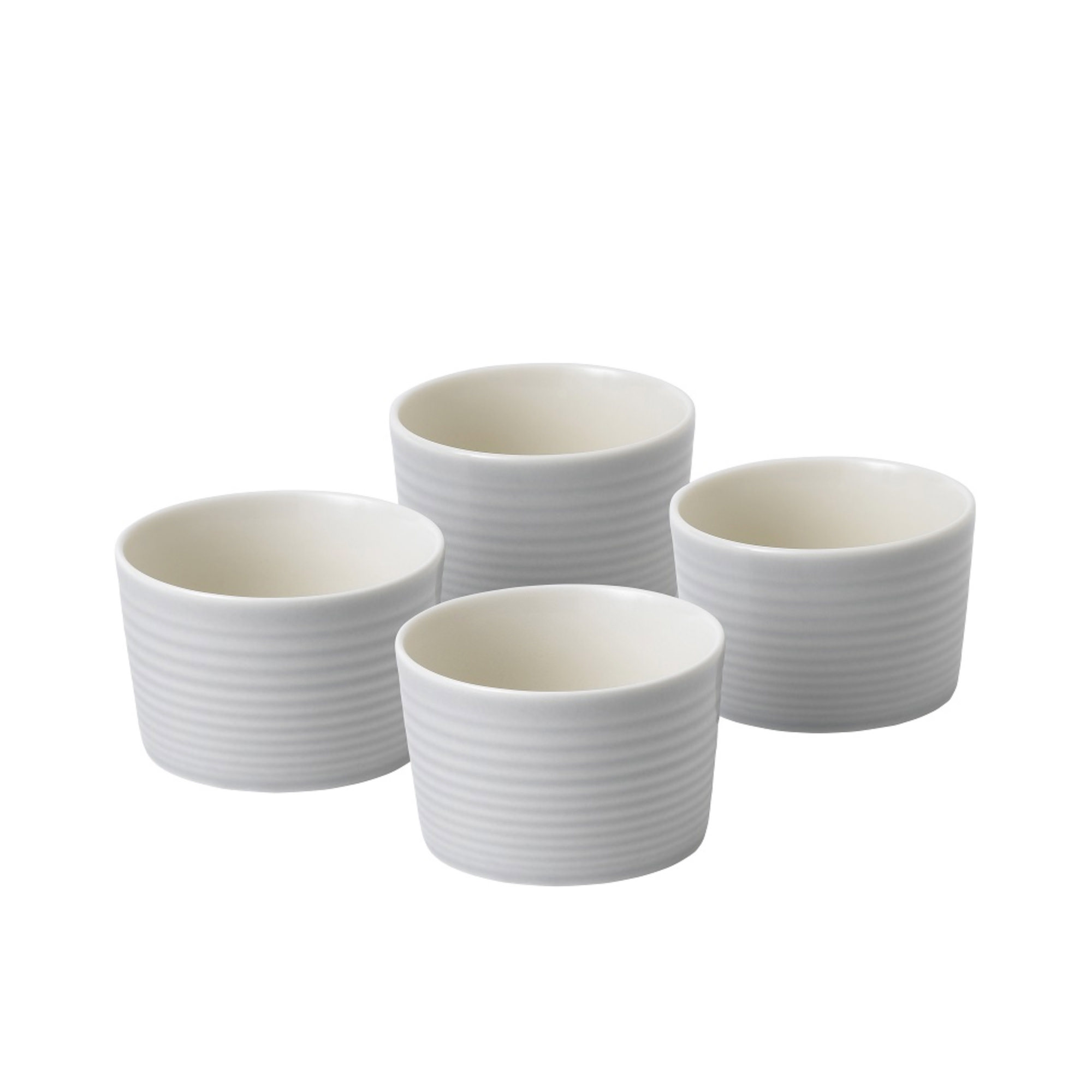 Royal Doulton Gordon Ramsay Maze 4pc Ramekin Set 10x6cm Grey