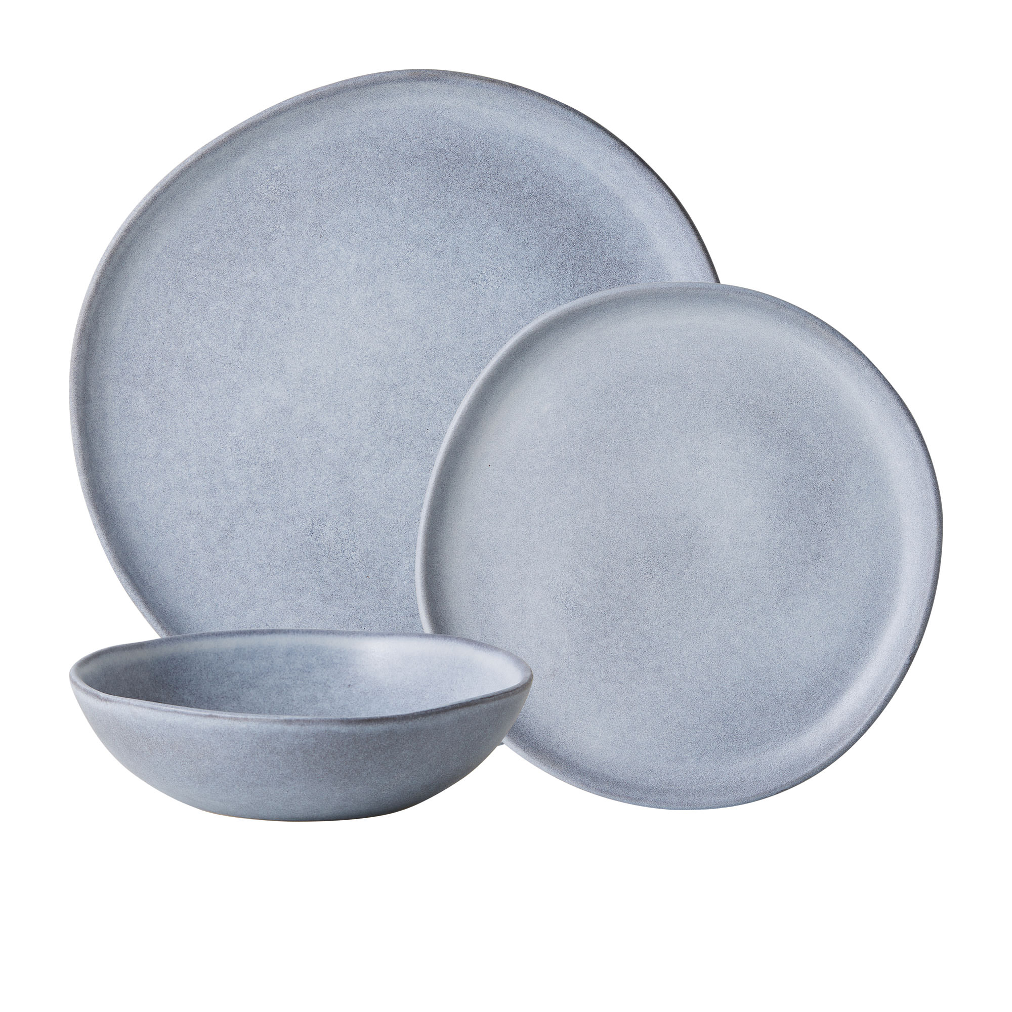 Salisbury & Co Capri 12pc Dinner Set Light Blue