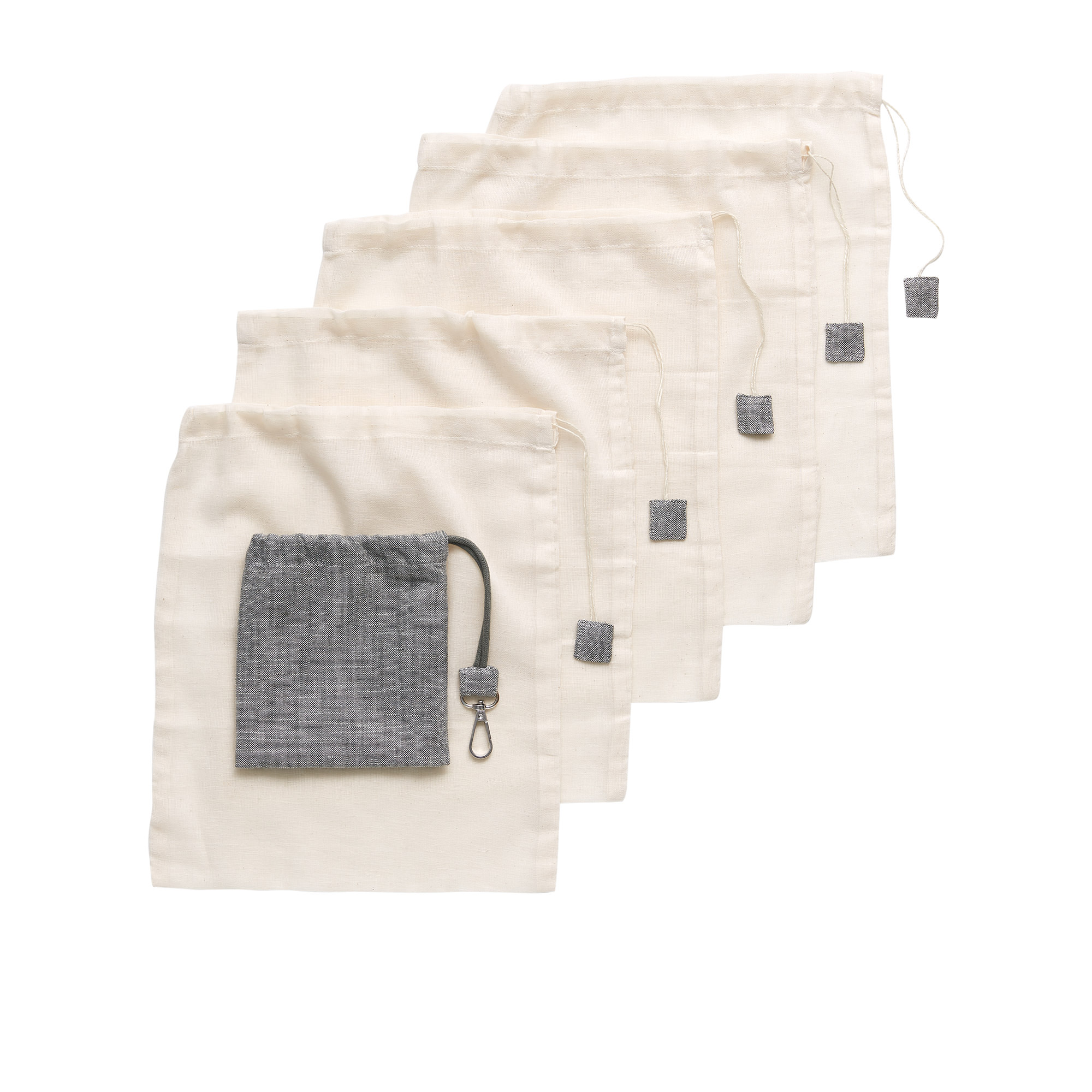 Salisbury & Co Essentials 5pc Mesh Produce Bags Small 30x25cm Natural