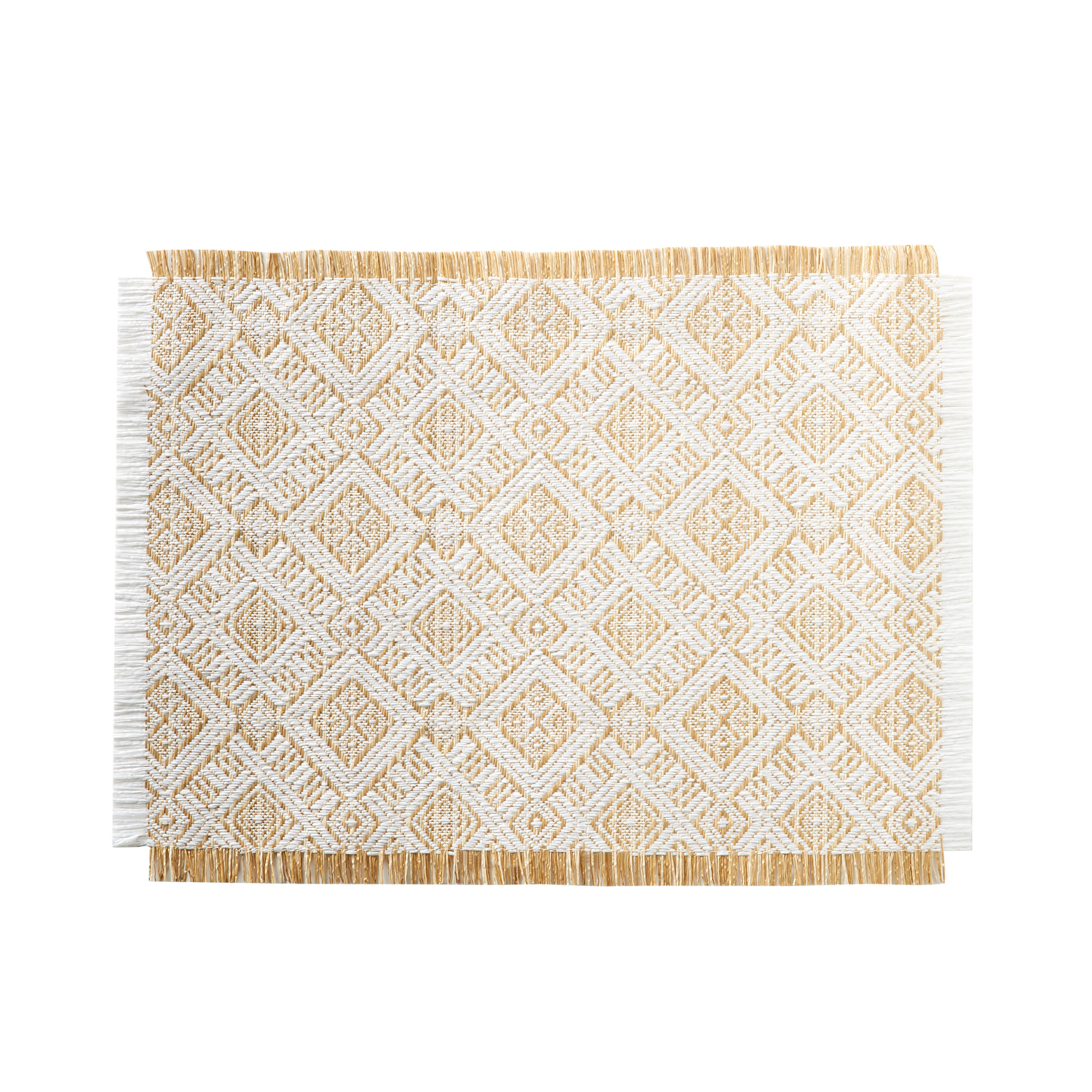 Salisbury & Co Ethnic Rectangular Placemat 33x45cm White