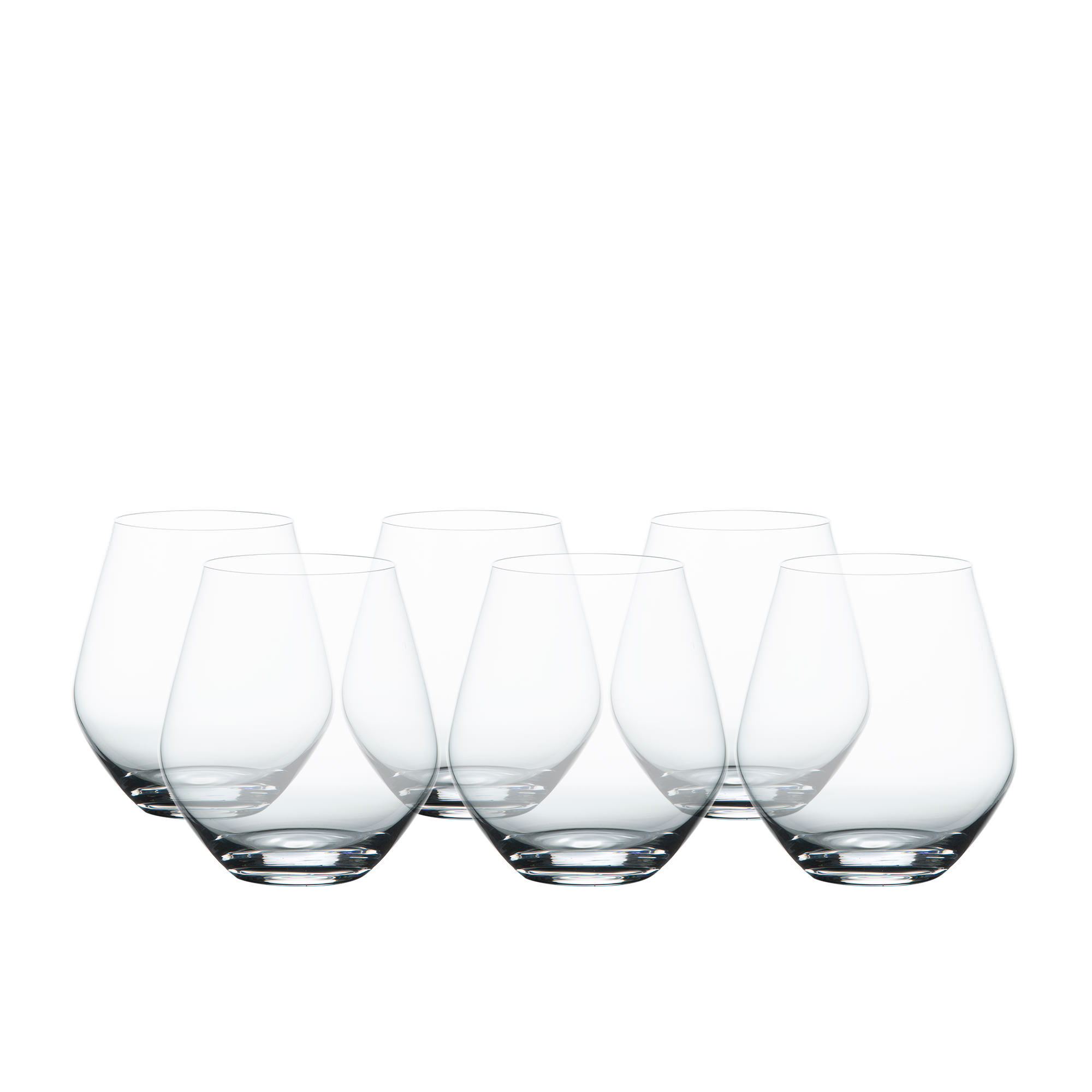 Salisbury & Co Sublime Stemless Wine Glass Set 500ml 6pc