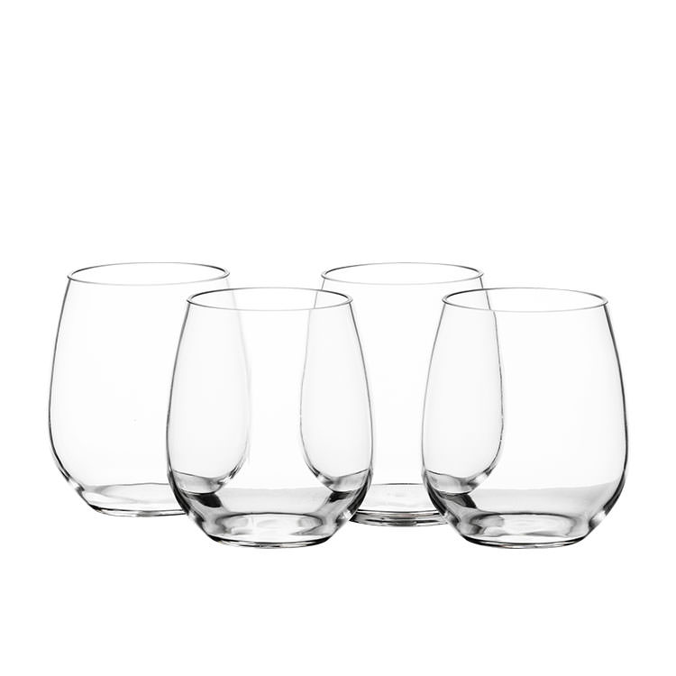 Salisbury & Co Unbreakable 4pc Stemless Wine Glass Set 500ml