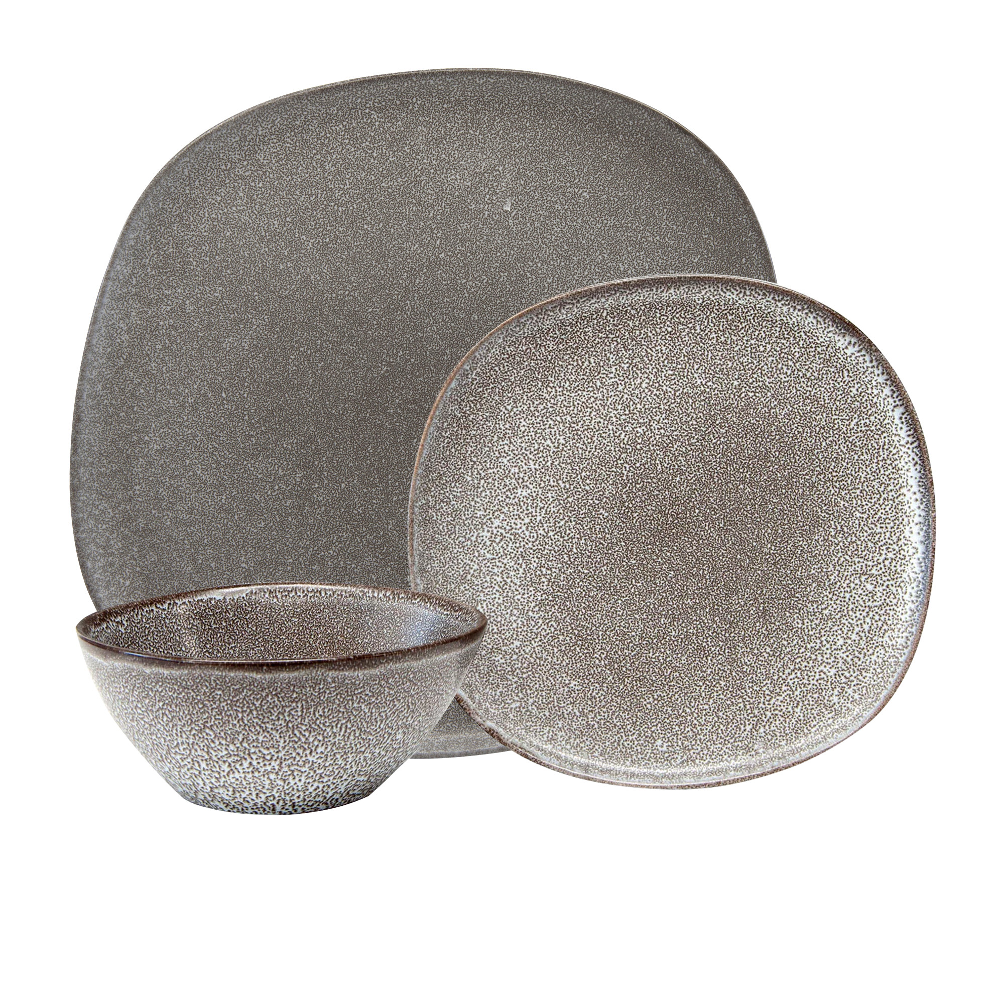 Salt & Pepper Arch 12pc Dinner Set Charcoal