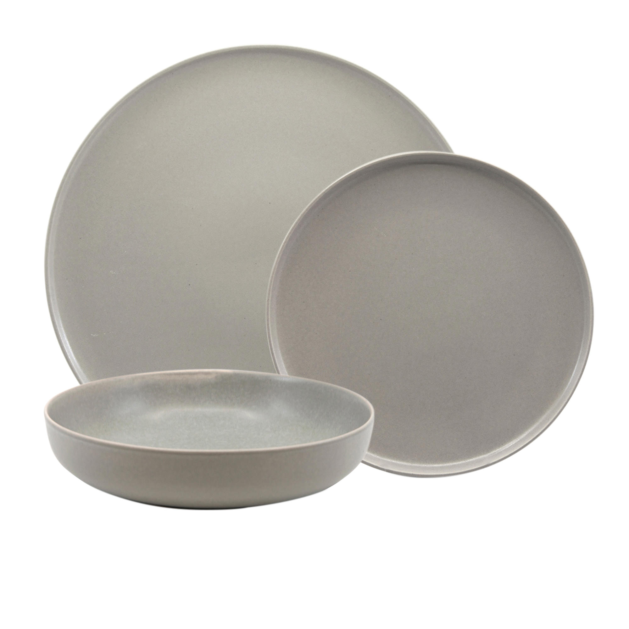 Salt & Pepper Hue 12pc Dinner Set Grey