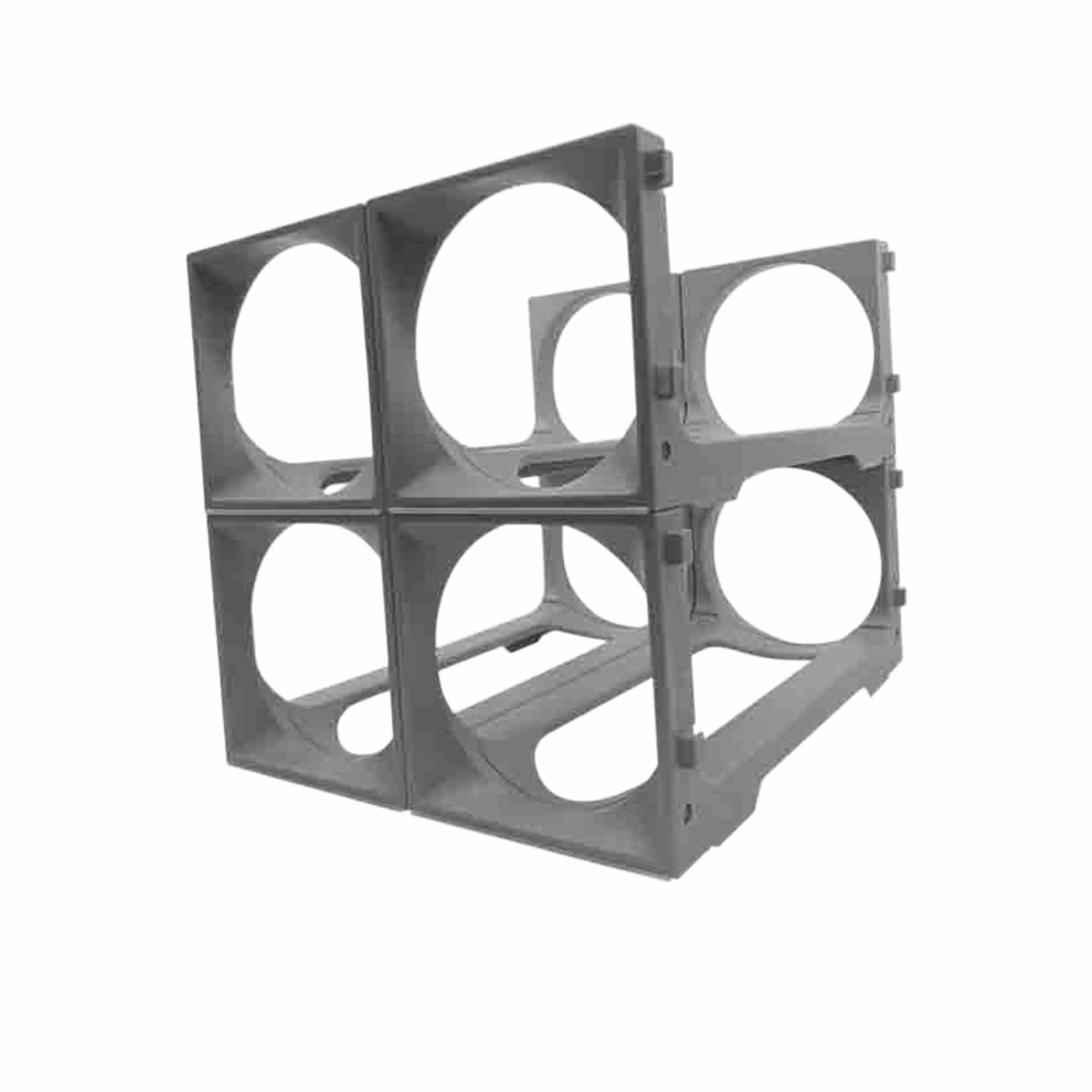 Stakrax 4 Bottle Fridge Rack Silver