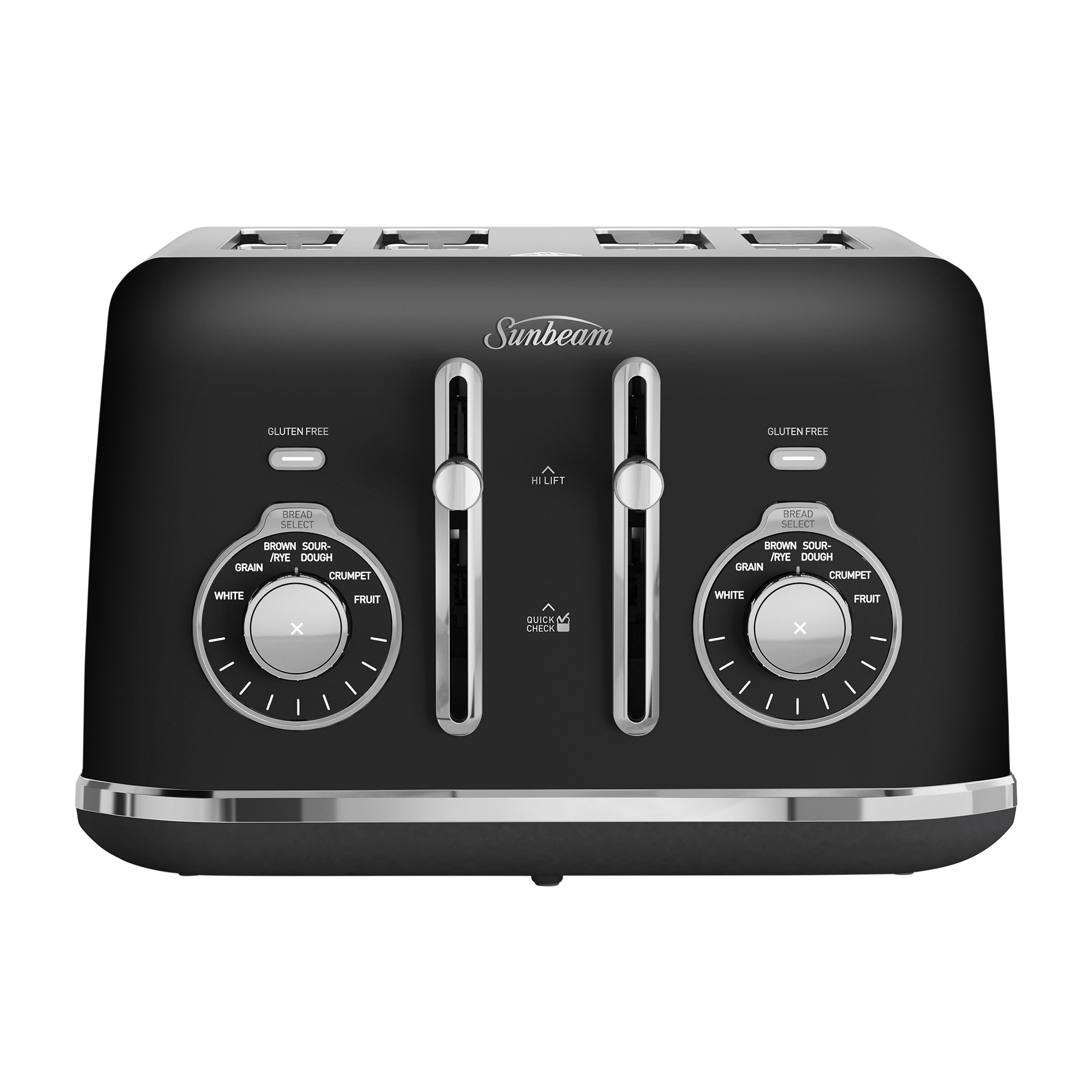 Sunbeam Alinea Select 4 Slice Toaster Dark Canyon Black