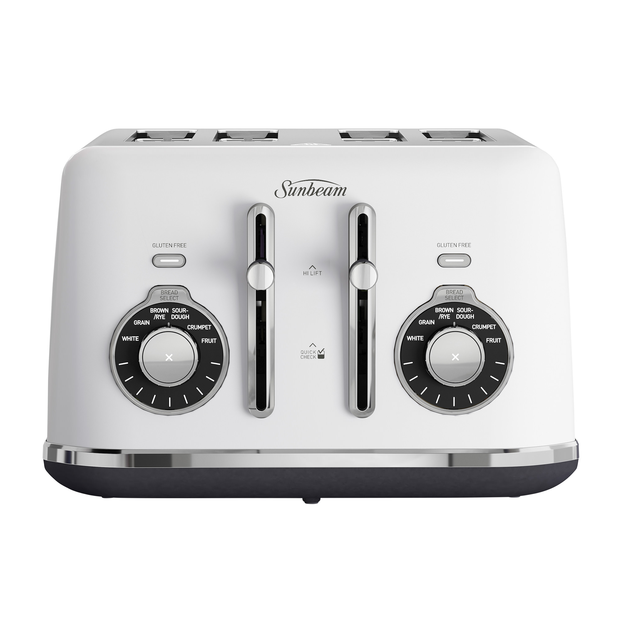 Sunbeam Alinea Select 4 Slice Toaster Ocean Mist White