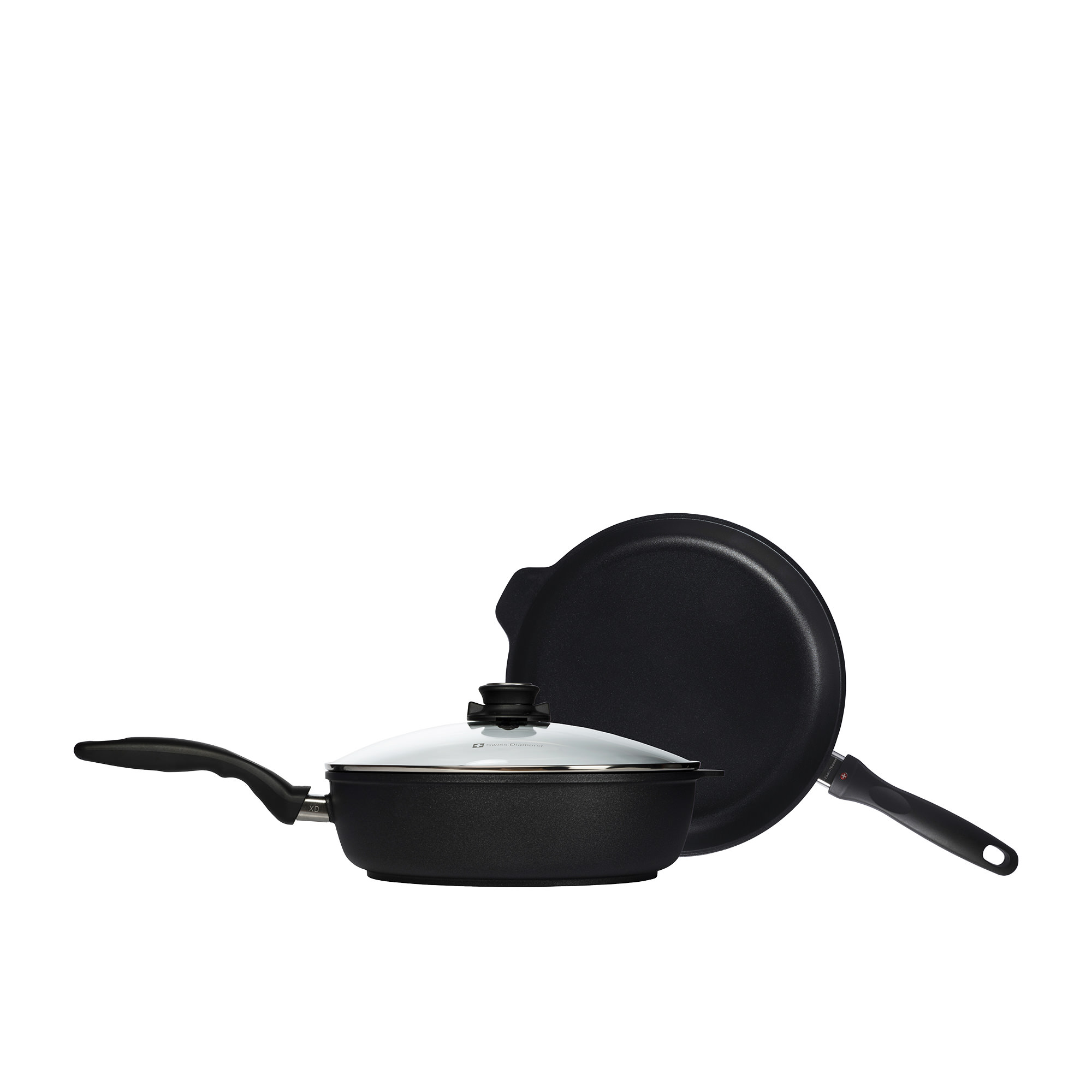 Swiss Diamond Classic XD Frypan & Saute Pan Set 28cm