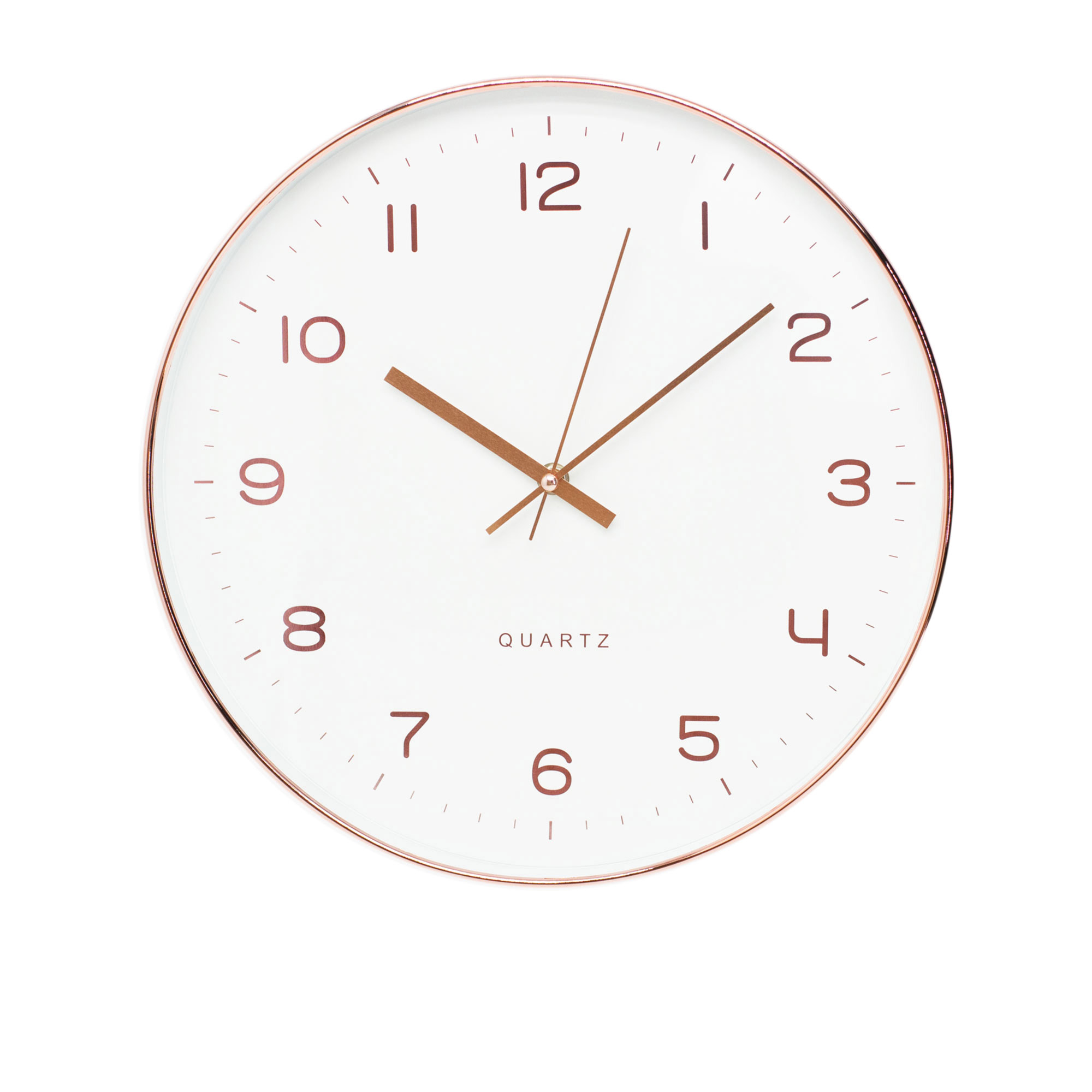 Toki Ava Silent Wall Clock 35cm Rose Gold