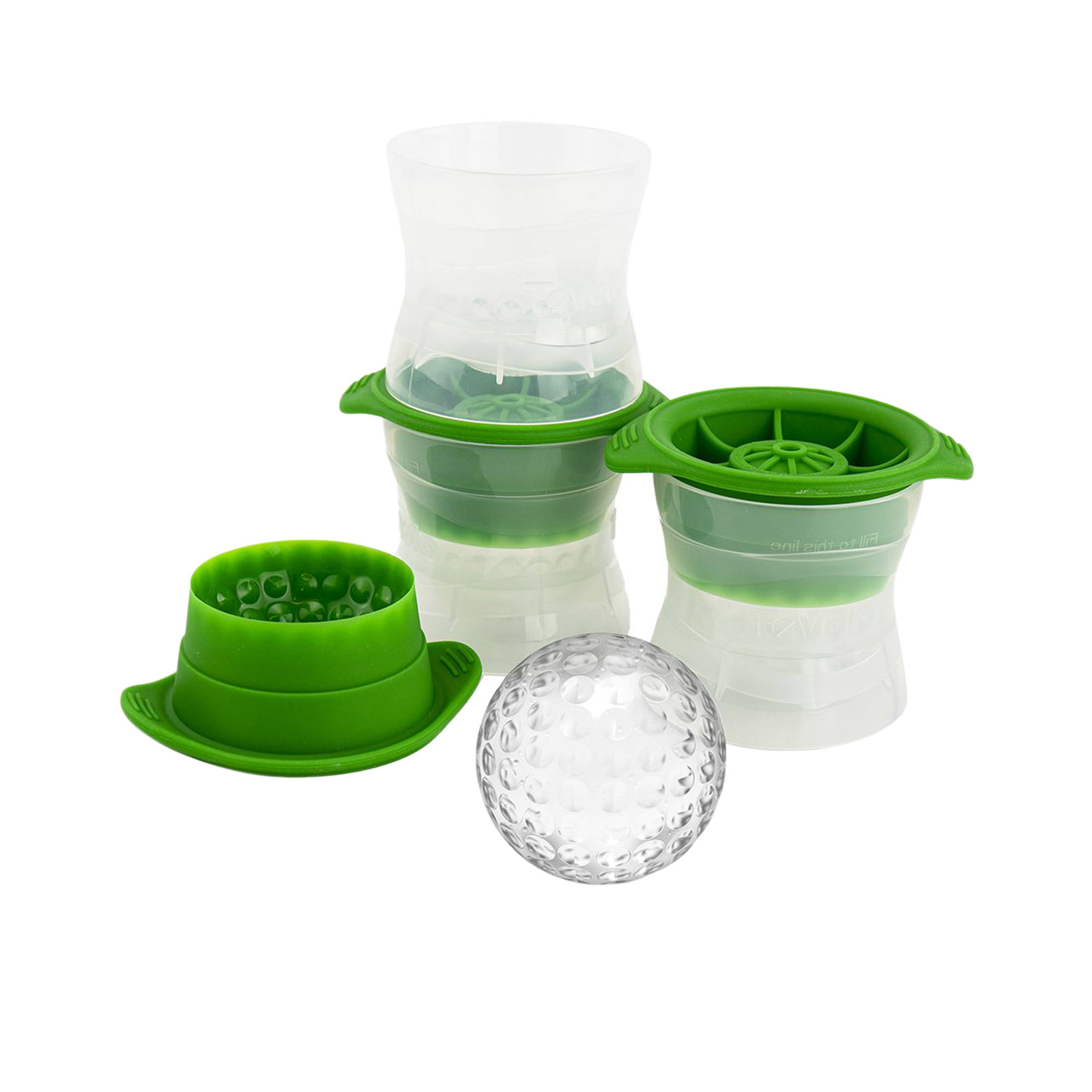 Tovolo 3pc Golf Ball Ice Mould Set Green