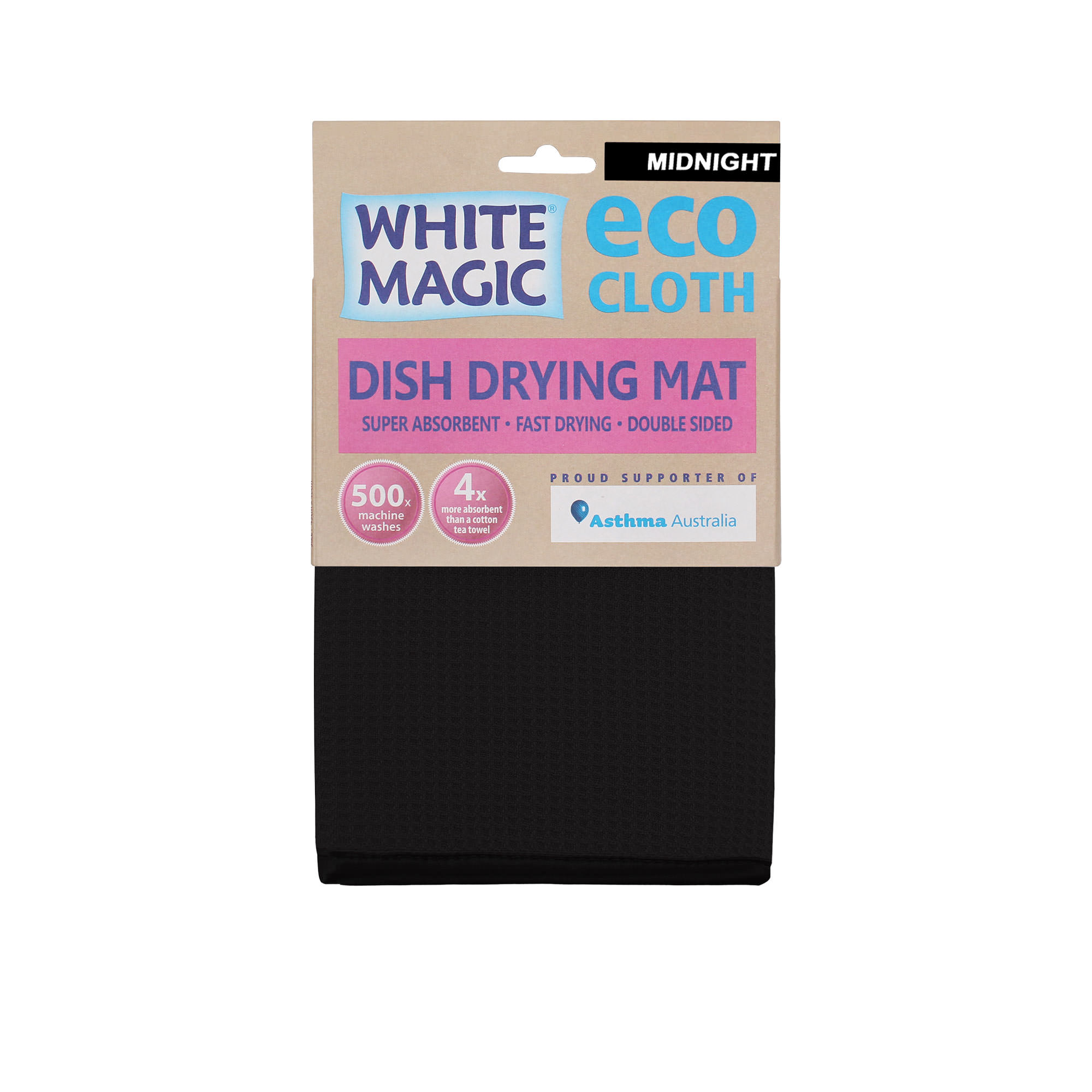 White Magic Eco Cloth Dish Drying Mat Midnight
