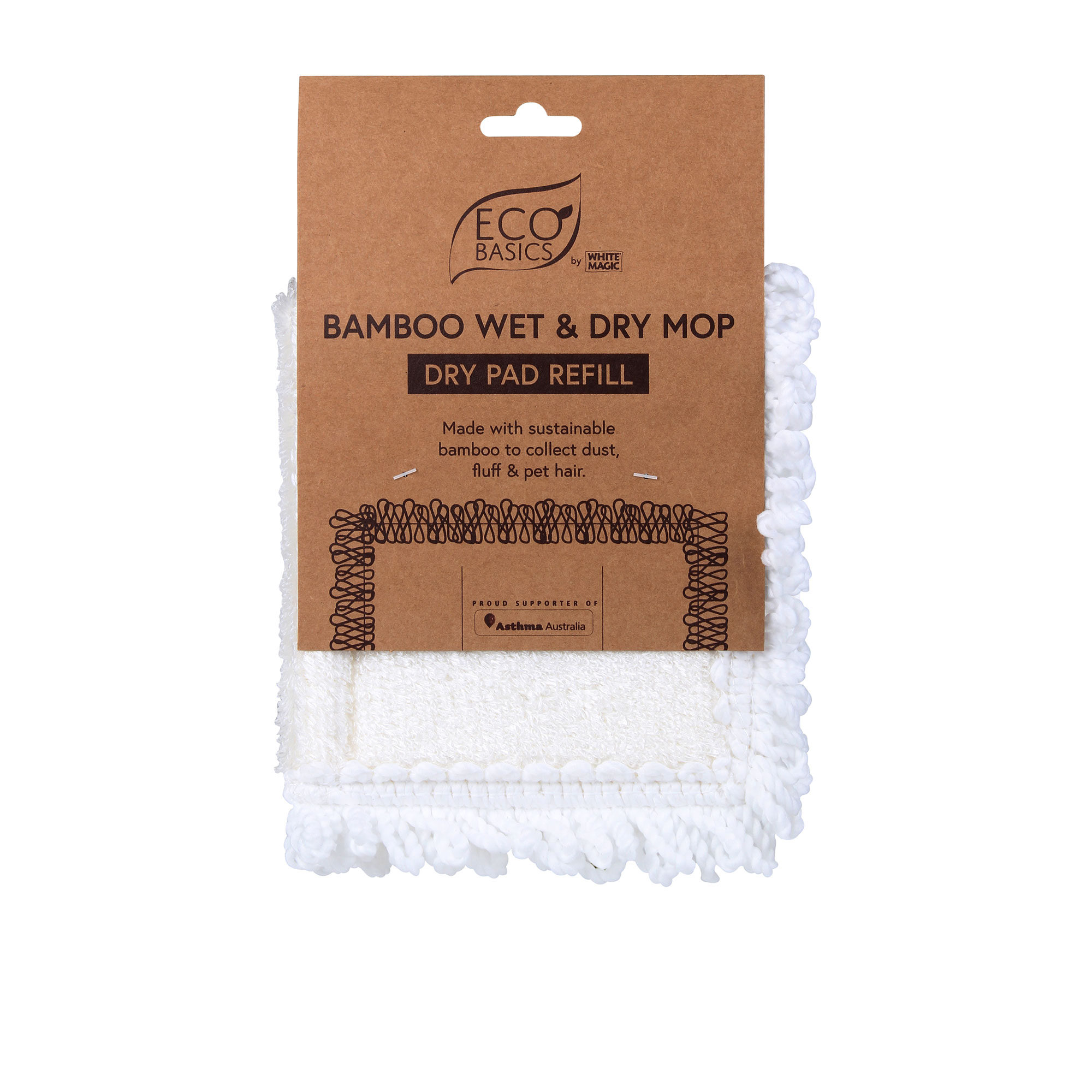 White Magic Eco Basics Bamboo Dry Pad Refill White