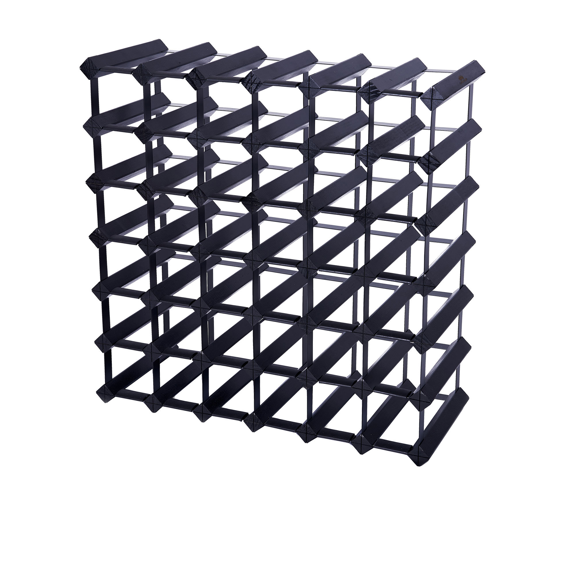Wine Stash Wine Rack 42 Bottle Black Onyx