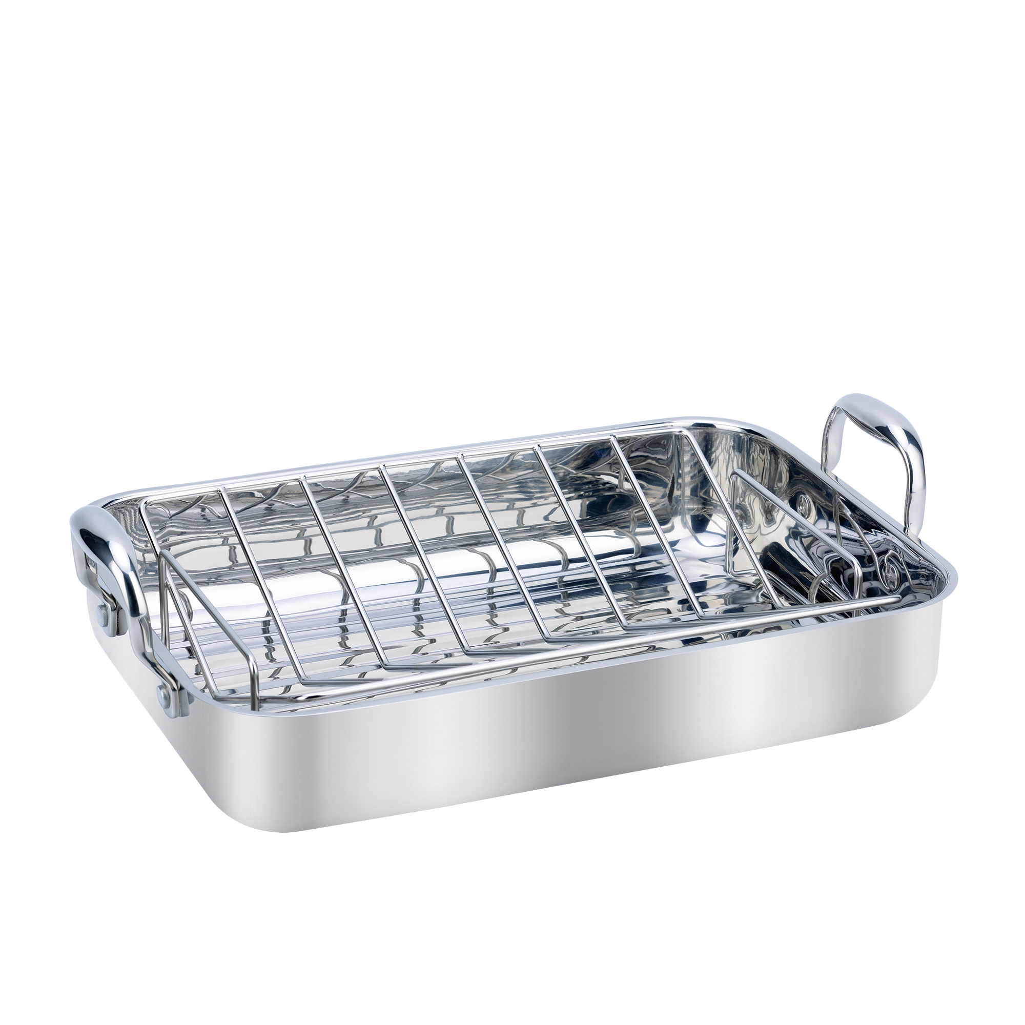 Wolstead Steeltek Stainless Steel Roaster with Rack 36x25cm