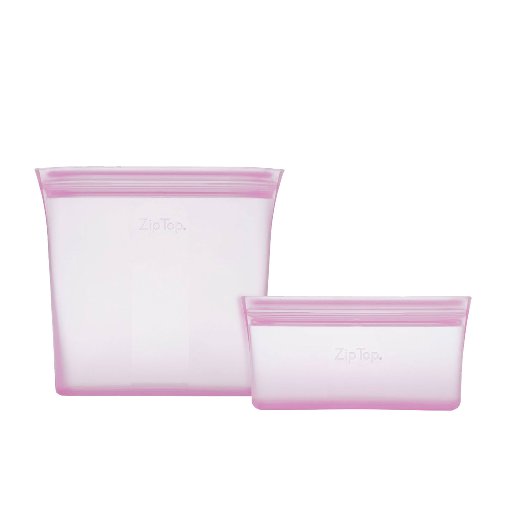 Zip Top 2pc Platinum Silicone Bag Set Lavender