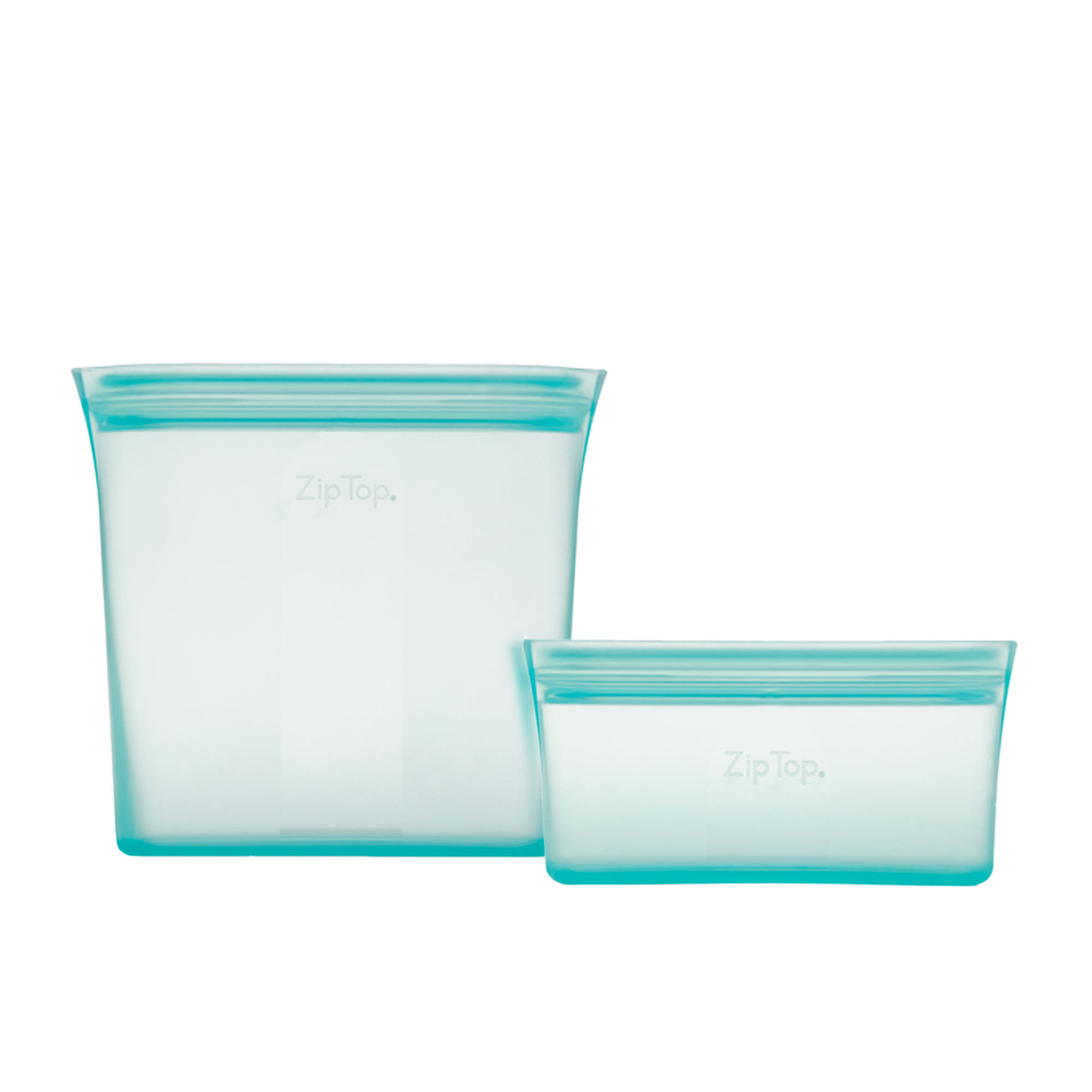 Zip Top 2pc Platinum Silicone Bag Set Teal