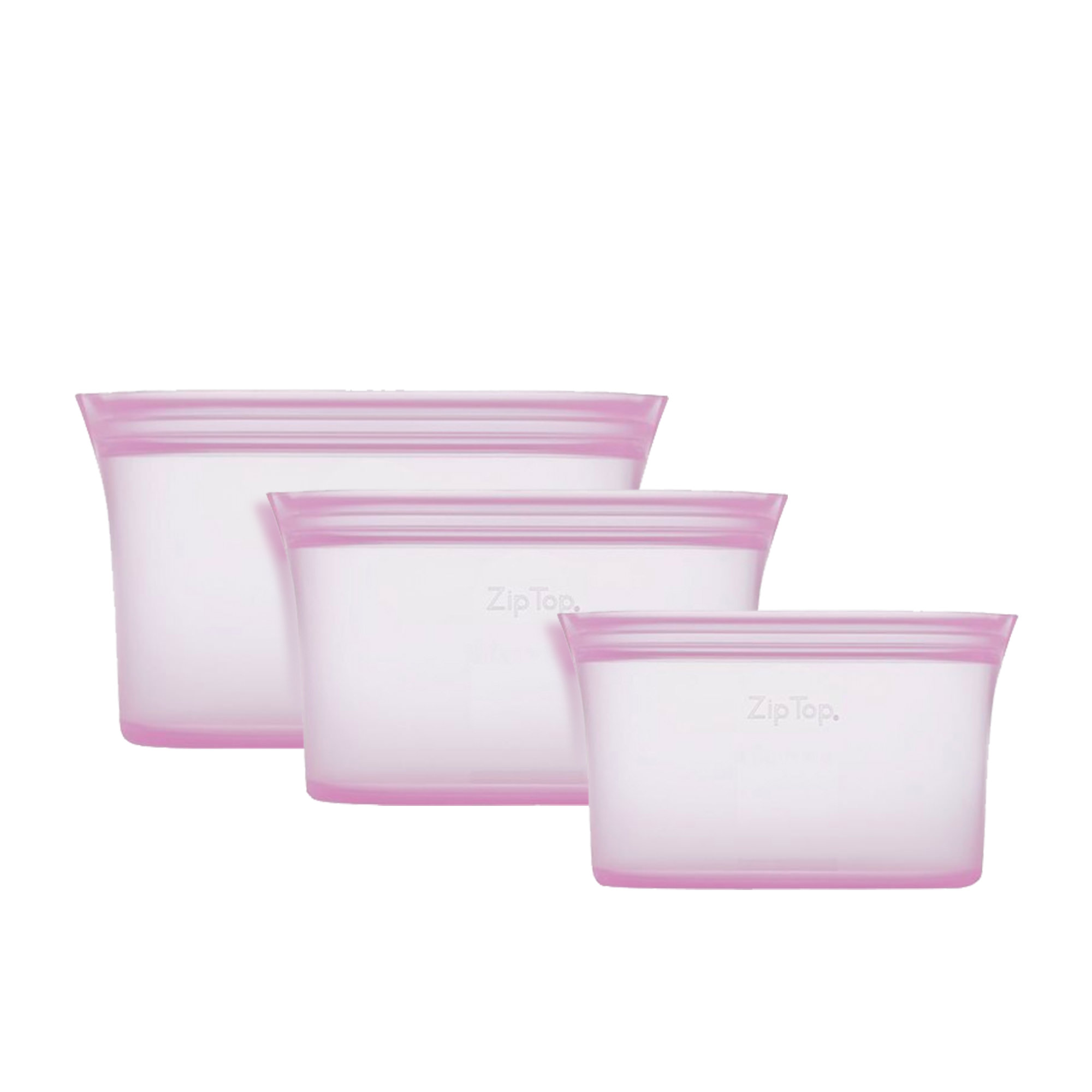 Zip Top 3pc Platinum Silicone Dish Container Set Lavender