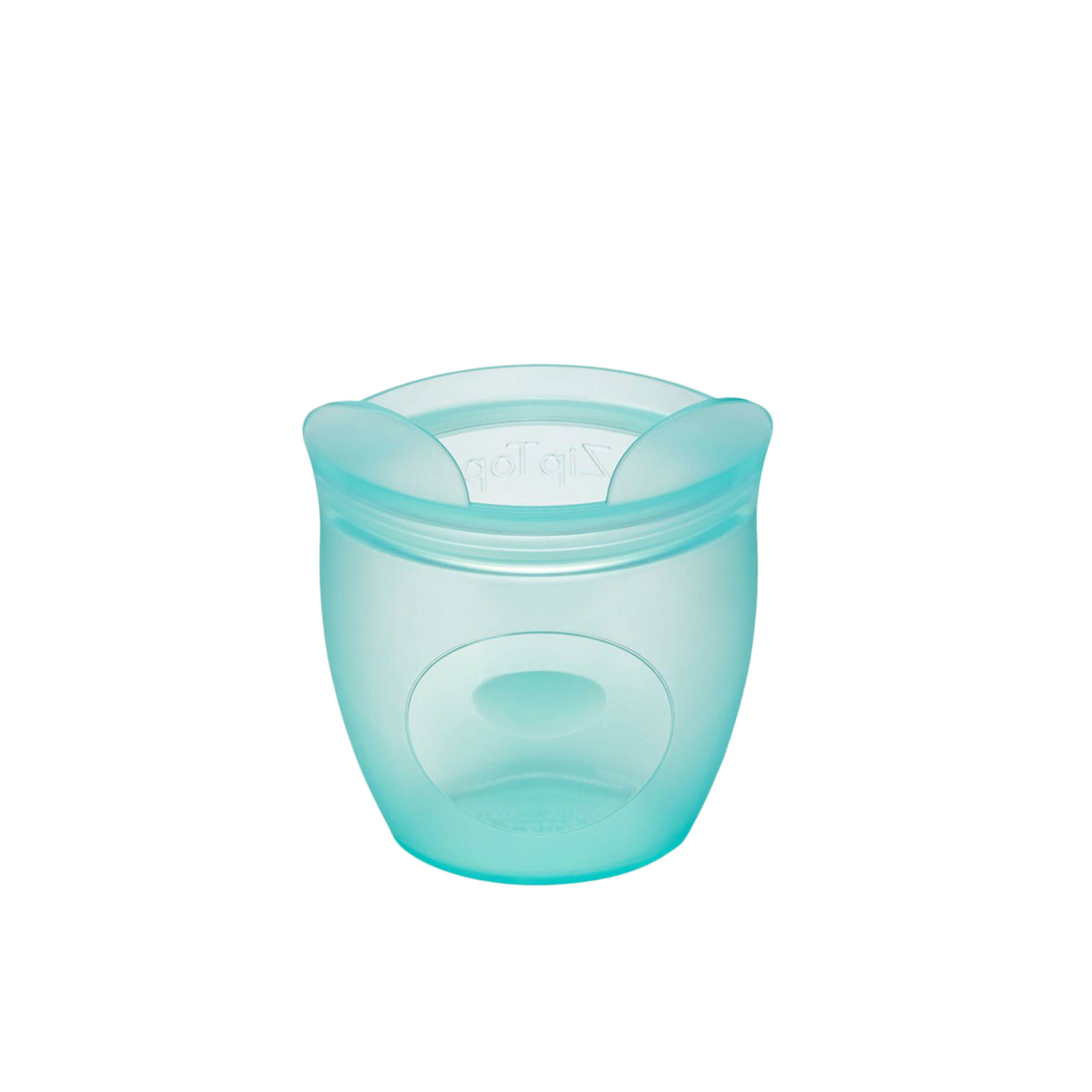 Zip Top Platinum Silicone Baby Snack Container 118ml Bear