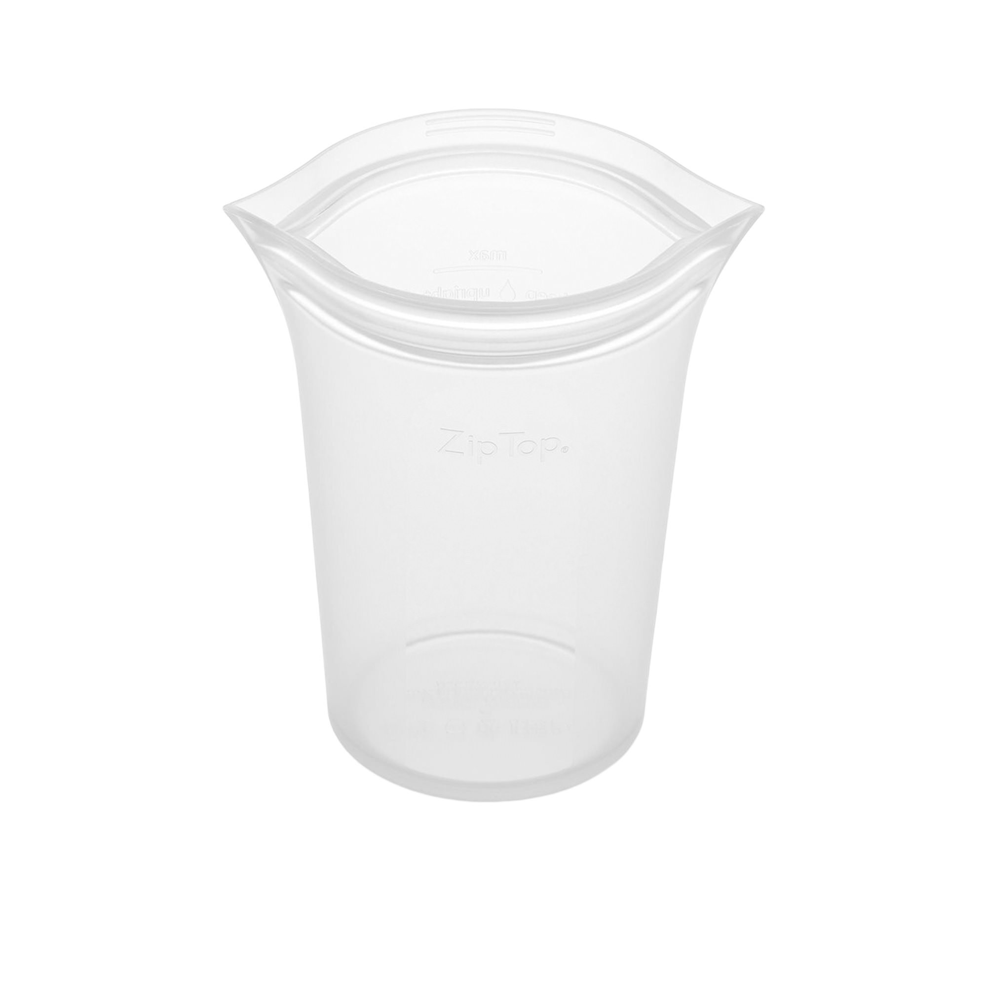 Zip Top Platinum Silicone Large Cup Container 710ml Clear