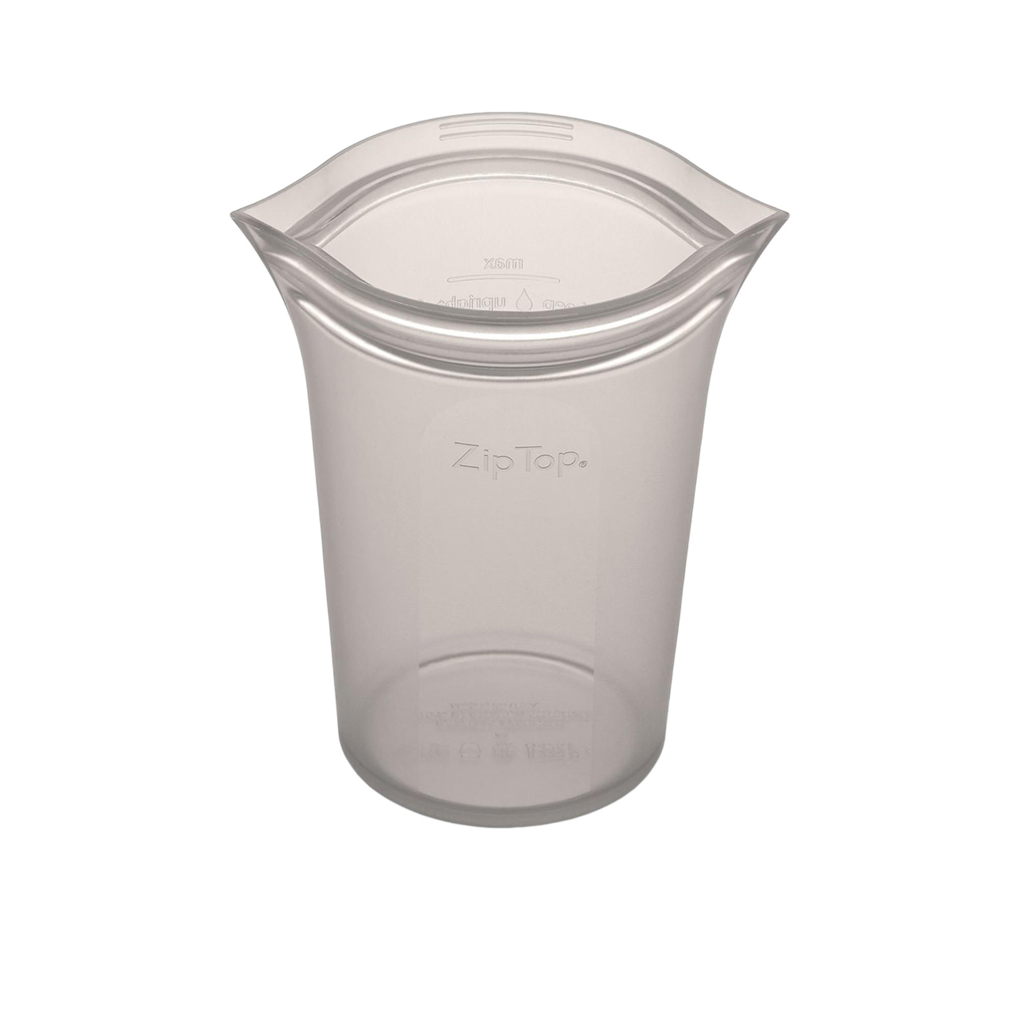 Zip Top Platinum Silicone Large Cup Container 710ml Grey
