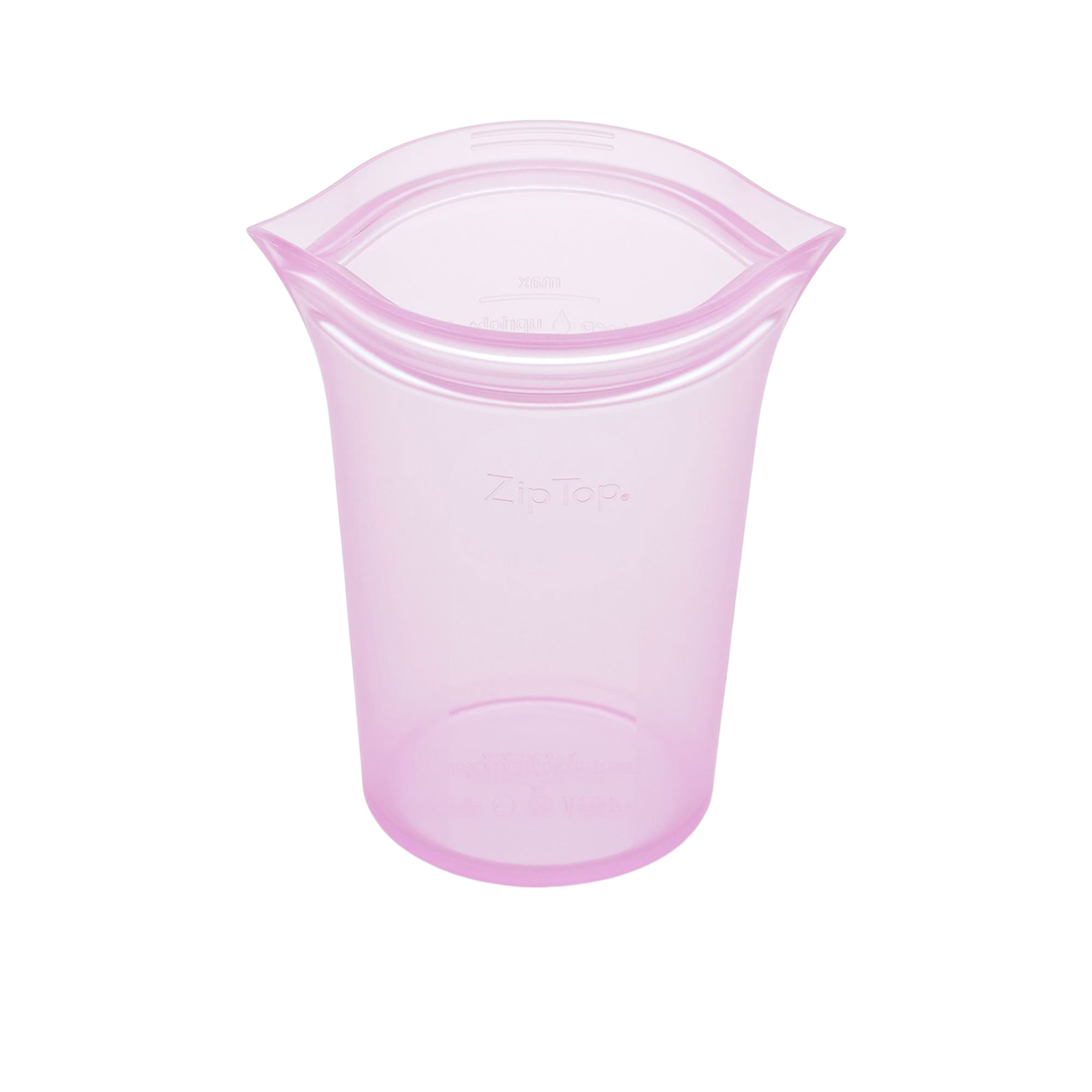 Zip Top Platinum Silicone Large Cup Container 710ml Lavender