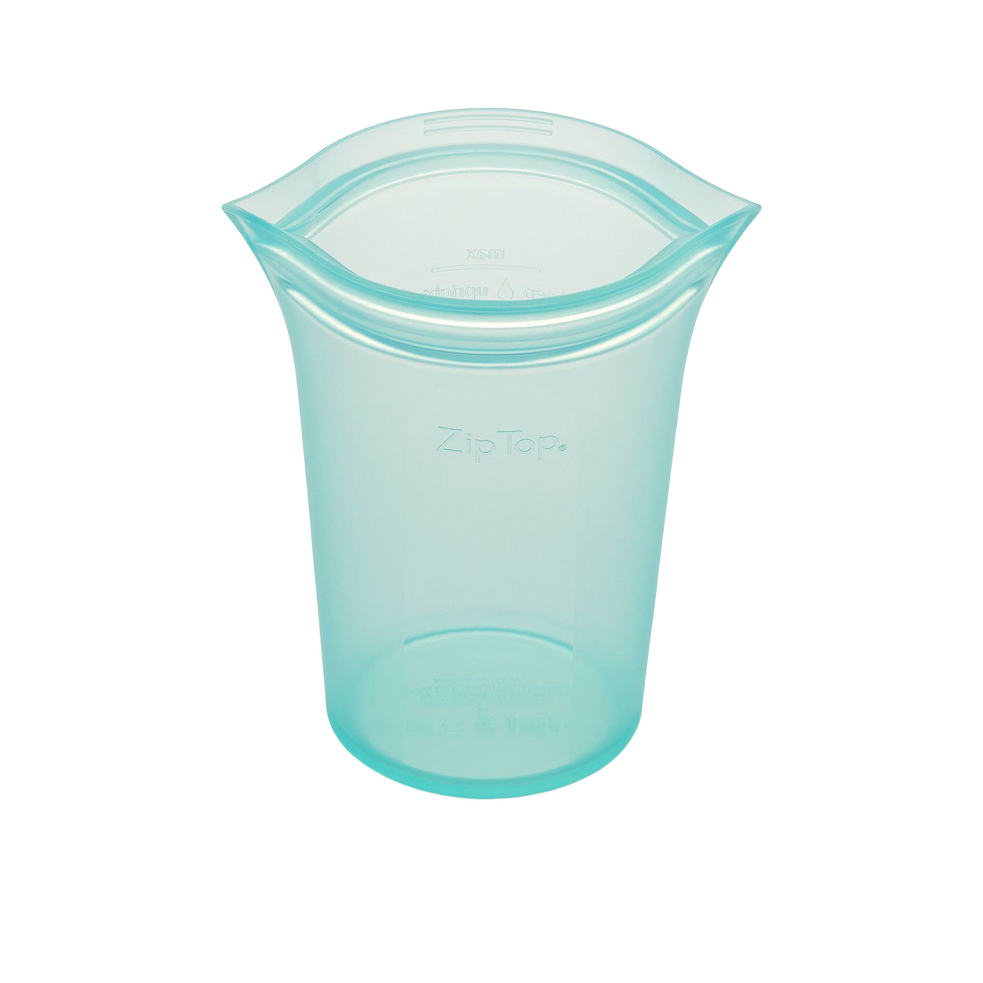 Zip Top Platinum Silicone Large Cup Container 710ml Teal