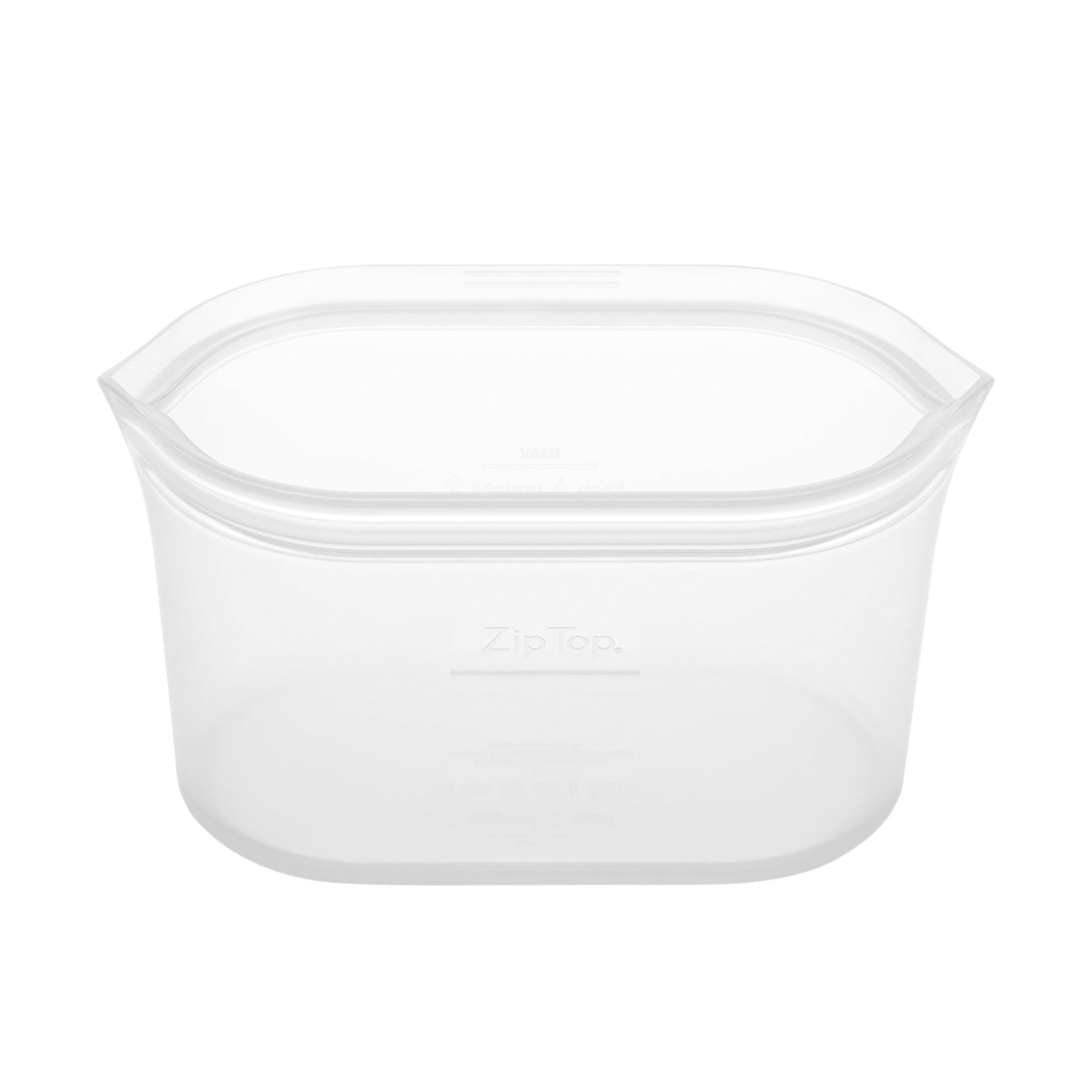 Zip Top Platinum Silicone Large Dish Container 946ml Clear