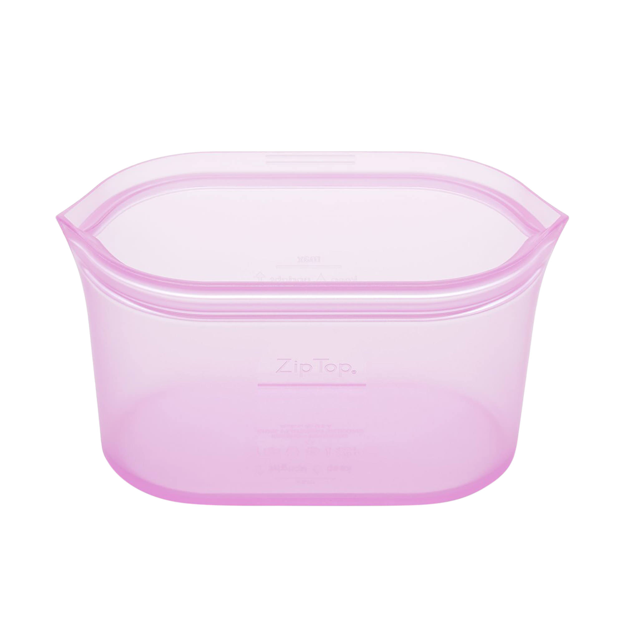 Zip Top Platinum Silicone Large Dish Container 946ml Lavender