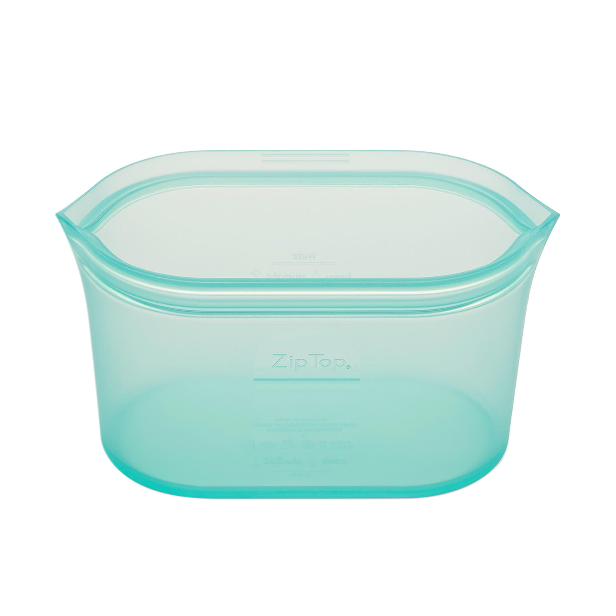 Zip Top Platinum Silicone Large Dish Container 946ml Teal