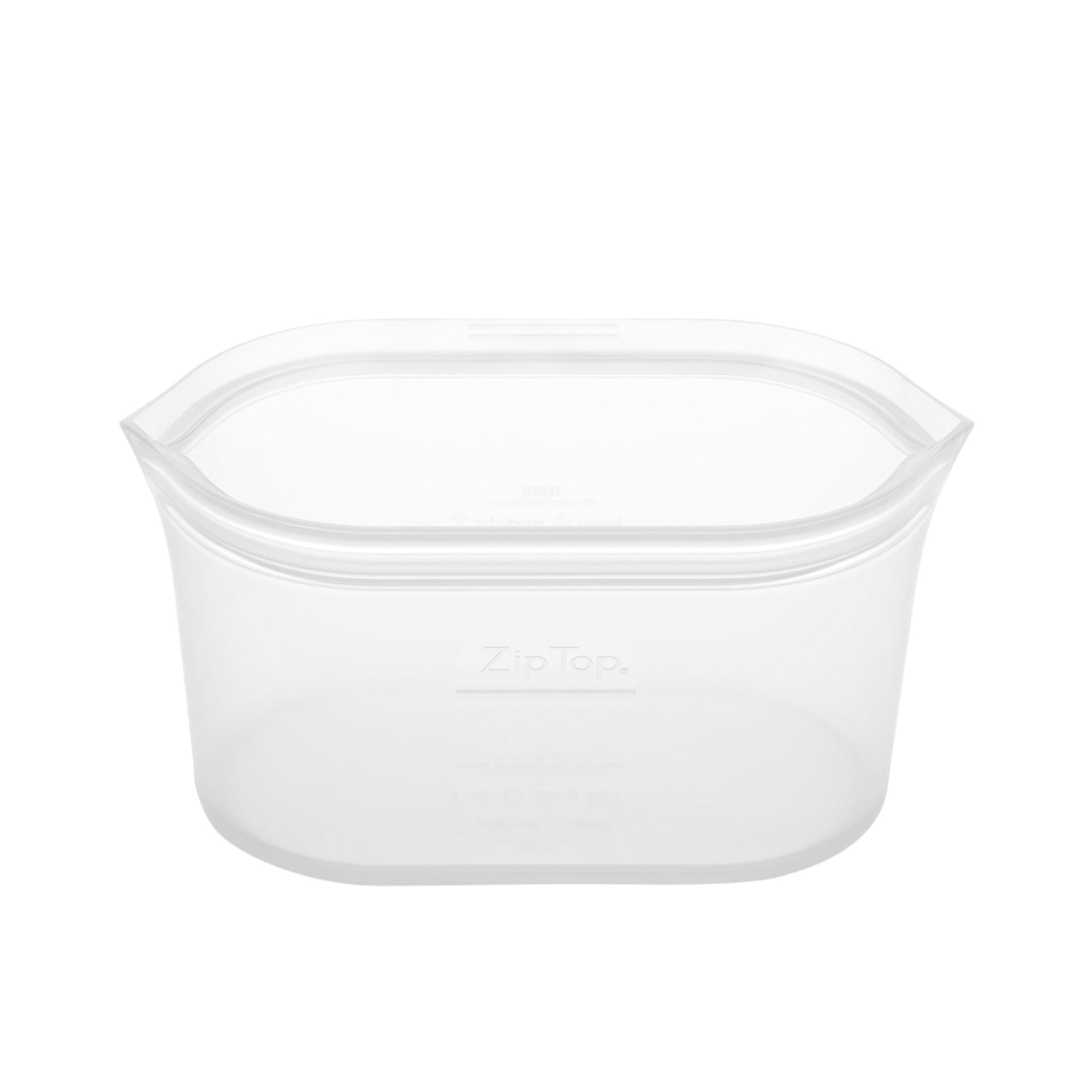 Zip Top Platinum Silicone Medium Dish Container 710ml Clear
