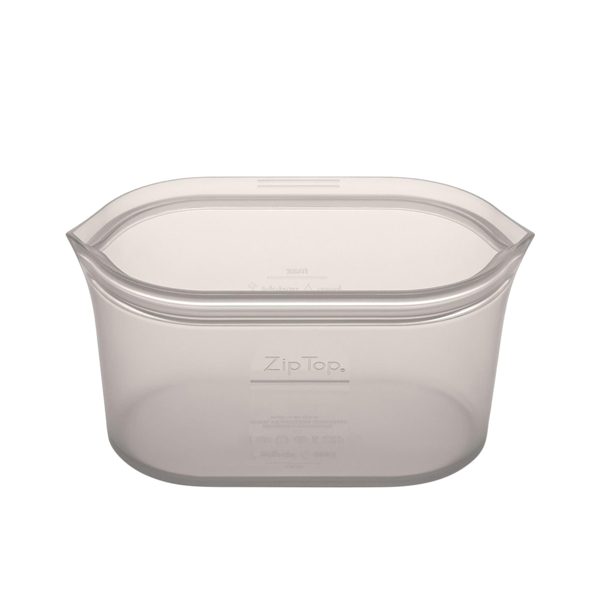 Zip Top Platinum Silicone Medium Dish Container 710ml Grey
