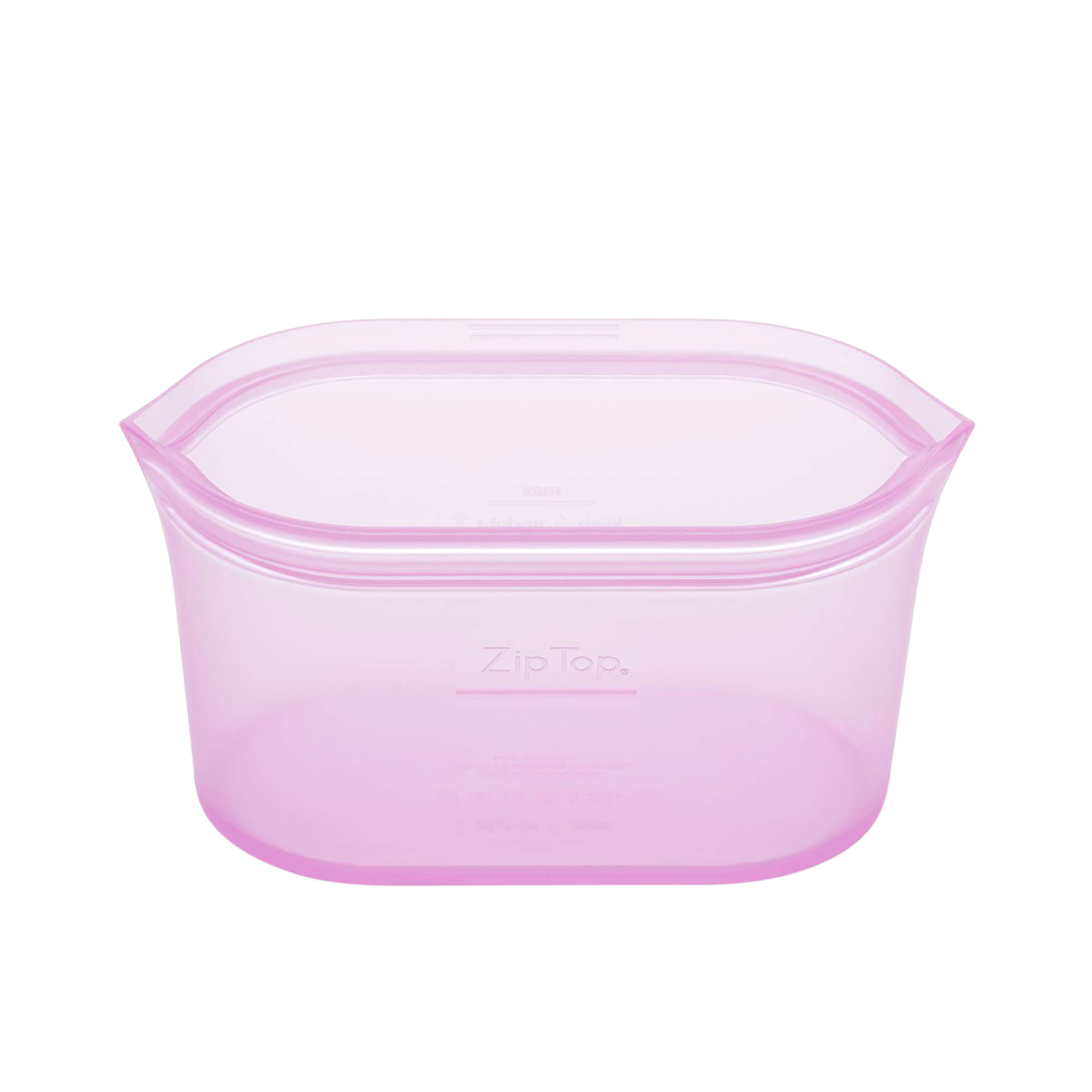Zip Top Platinum Silicone Medium Dish Container 710ml Lavender